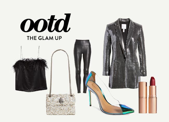 Outfit of the day: the glam up.