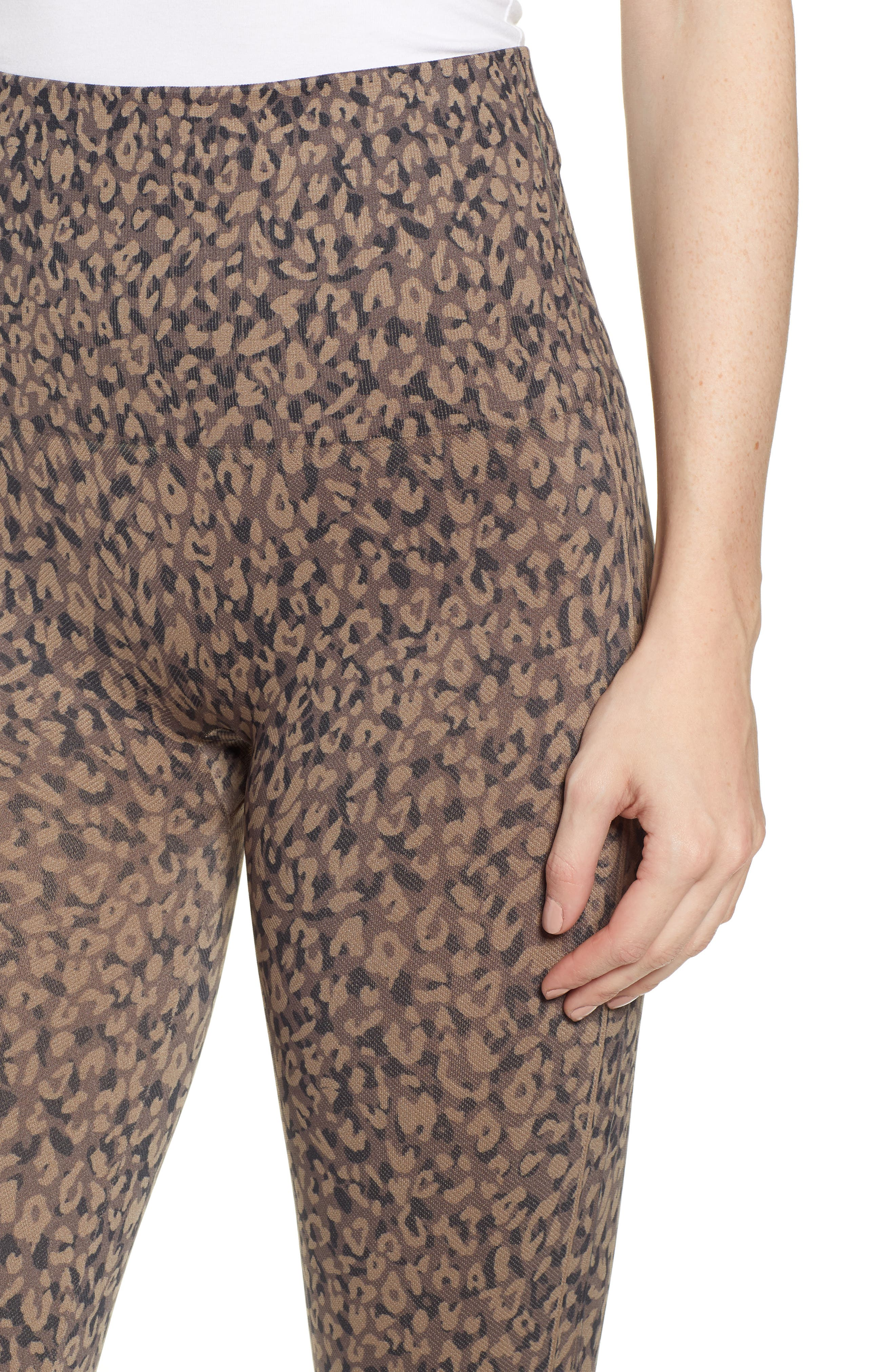 Look at Me Now' Seamless Leggings,                             Alternate thumbnail 4, color,                             MINI LEOPARD
