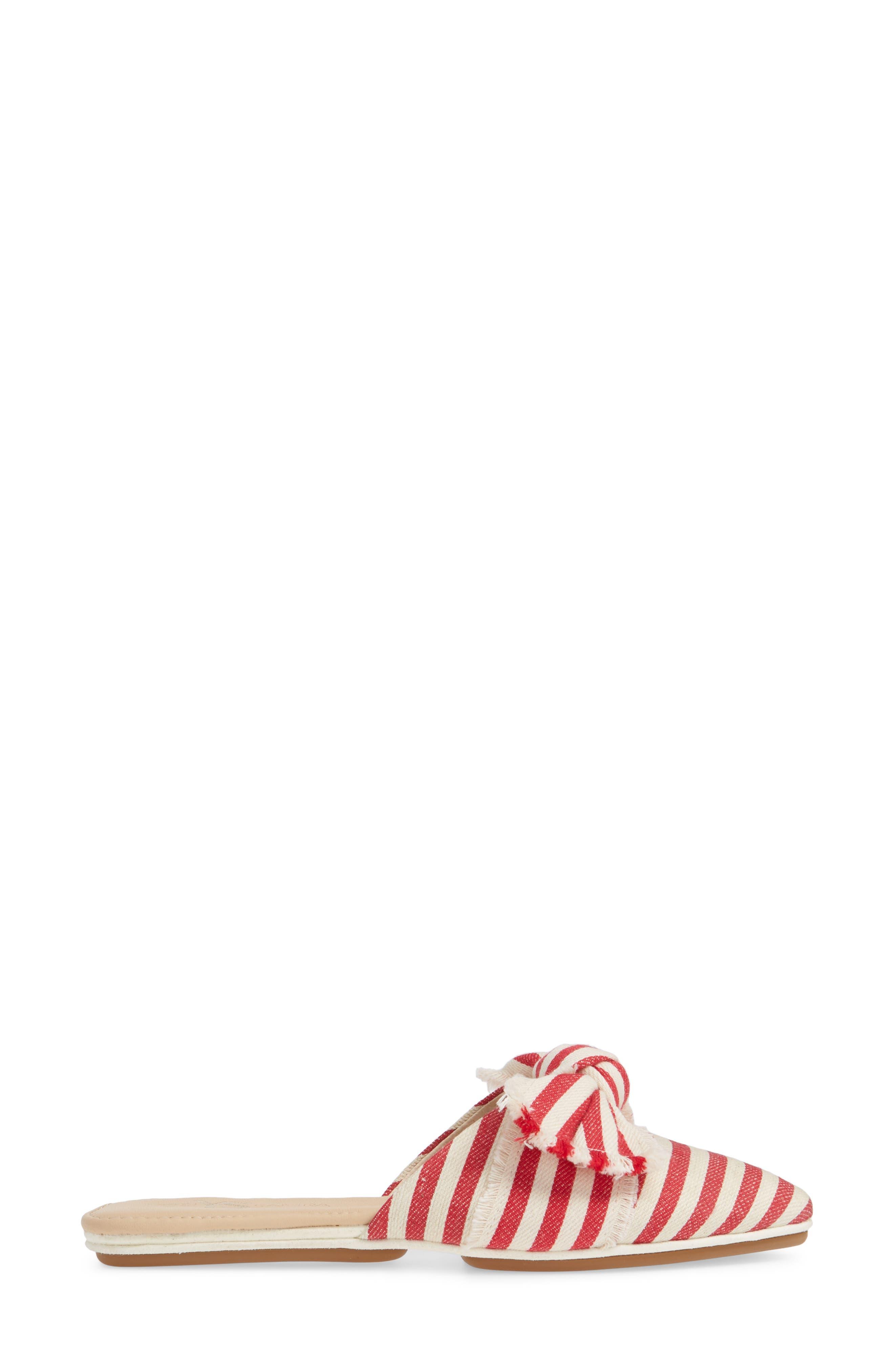 YOSI SAMRA,                             Viceroy Mule,                             Alternate thumbnail 3, color,                             RED / NATURAL WOVEN STRIPE