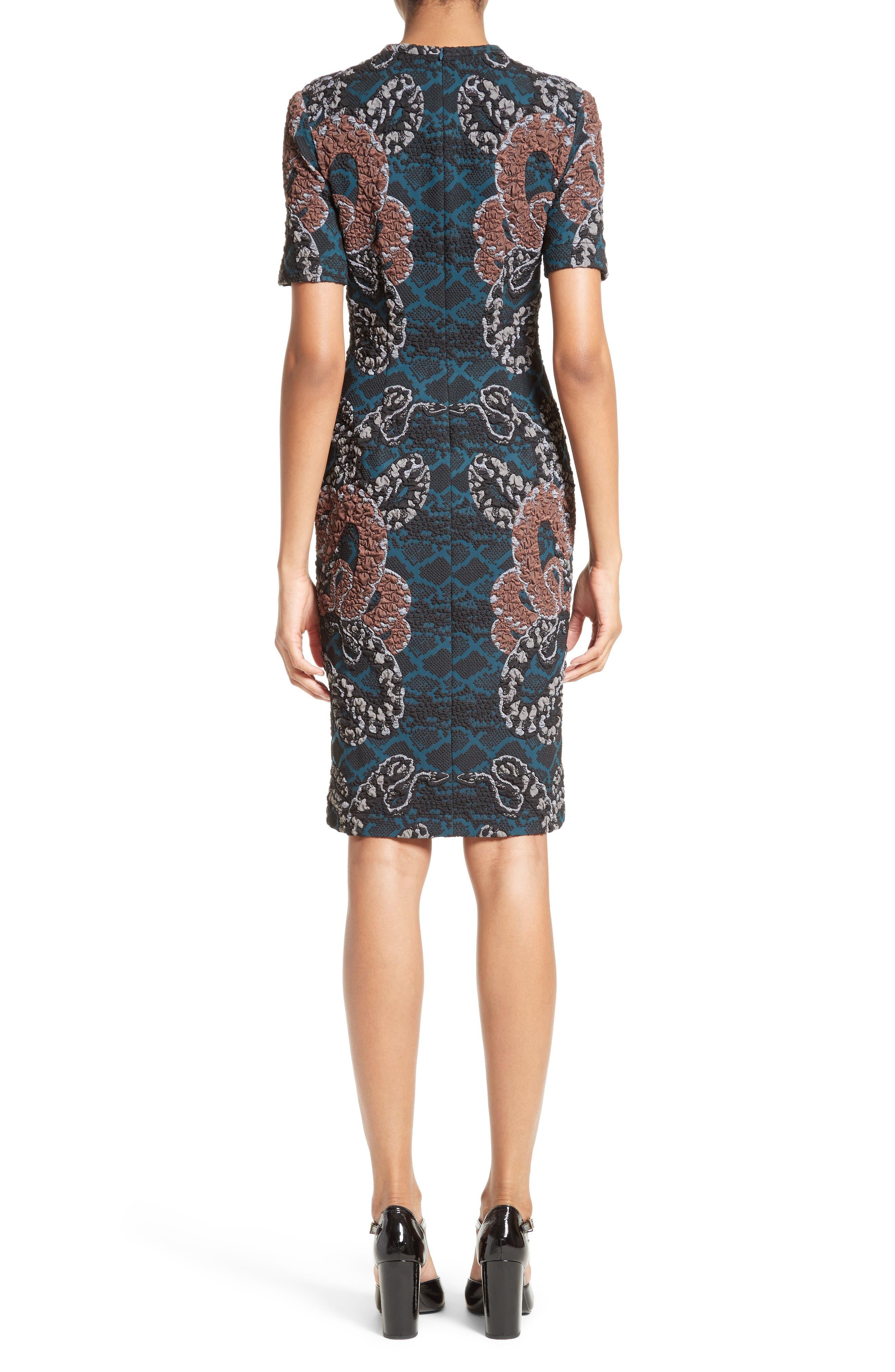 Serpent Jacquard Dress,                             Alternate thumbnail 2, color,                             400