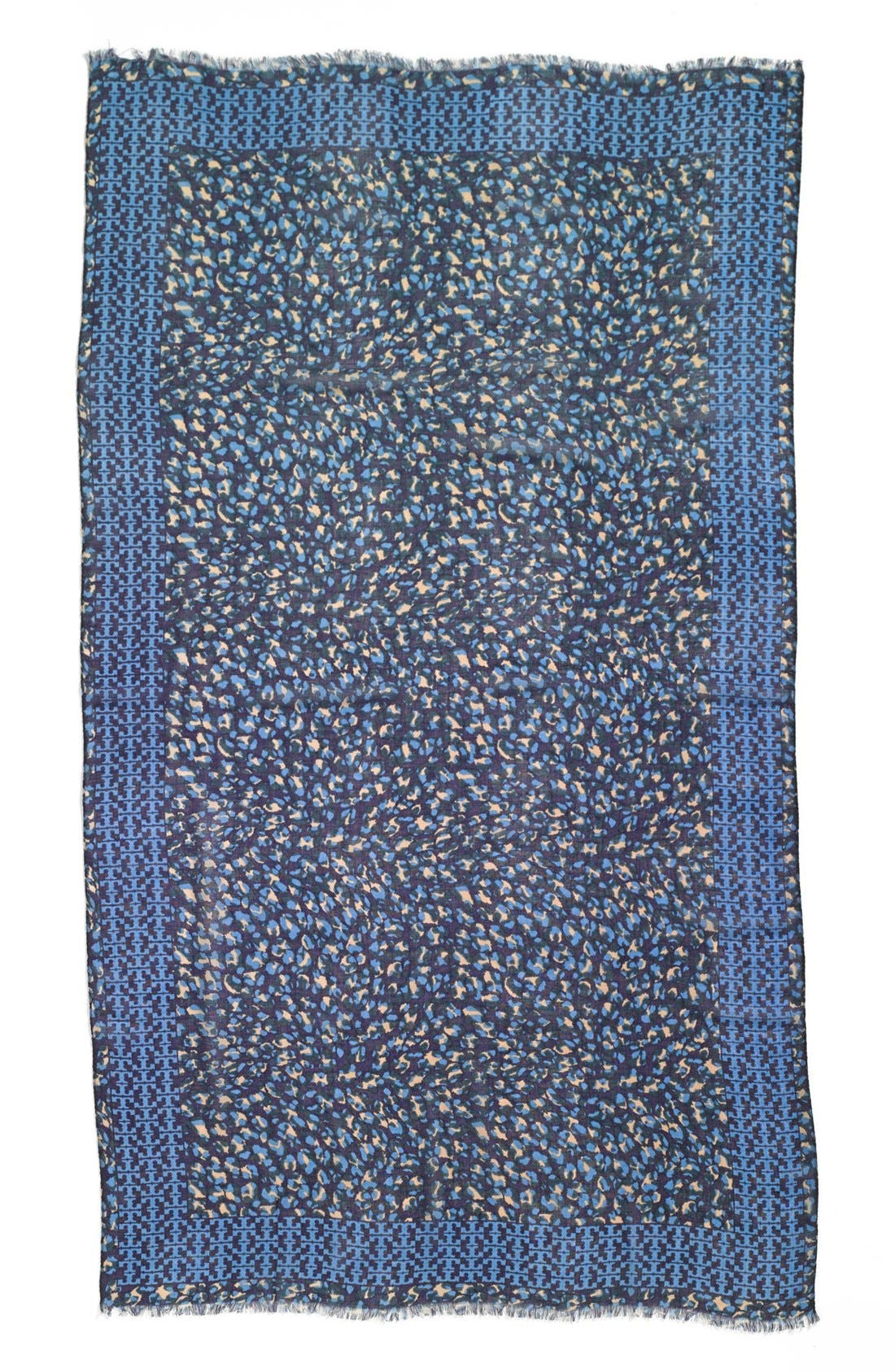 'Panthra - Small T' Wool Scarf,                             Alternate thumbnail 2, color,                             400