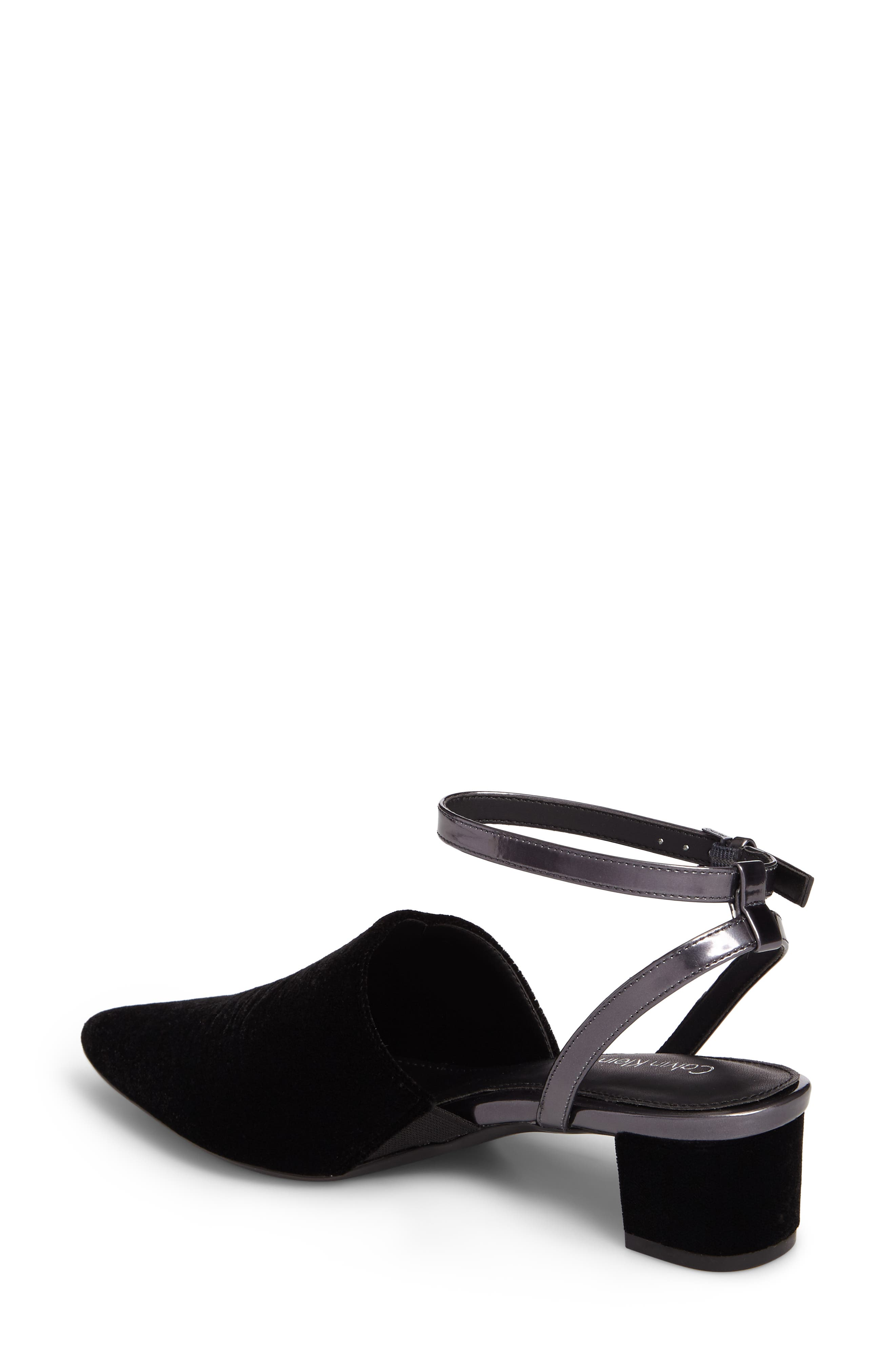 Ginetta Ankle Strap Pump,                             Alternate thumbnail 2, color,                             001