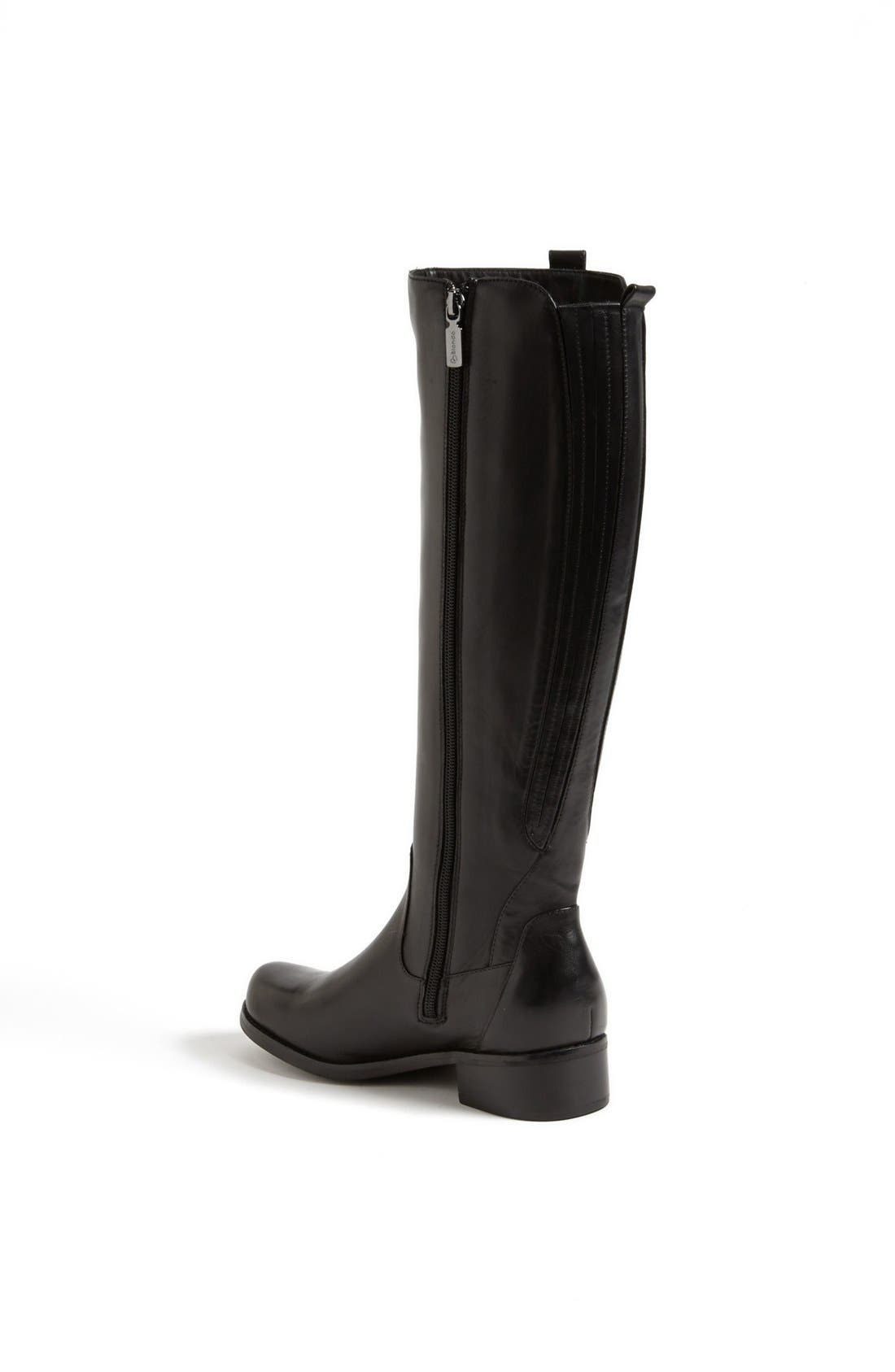 'Venise' Waterproof Leather Riding Boot,                             Alternate thumbnail 2, color,                             001