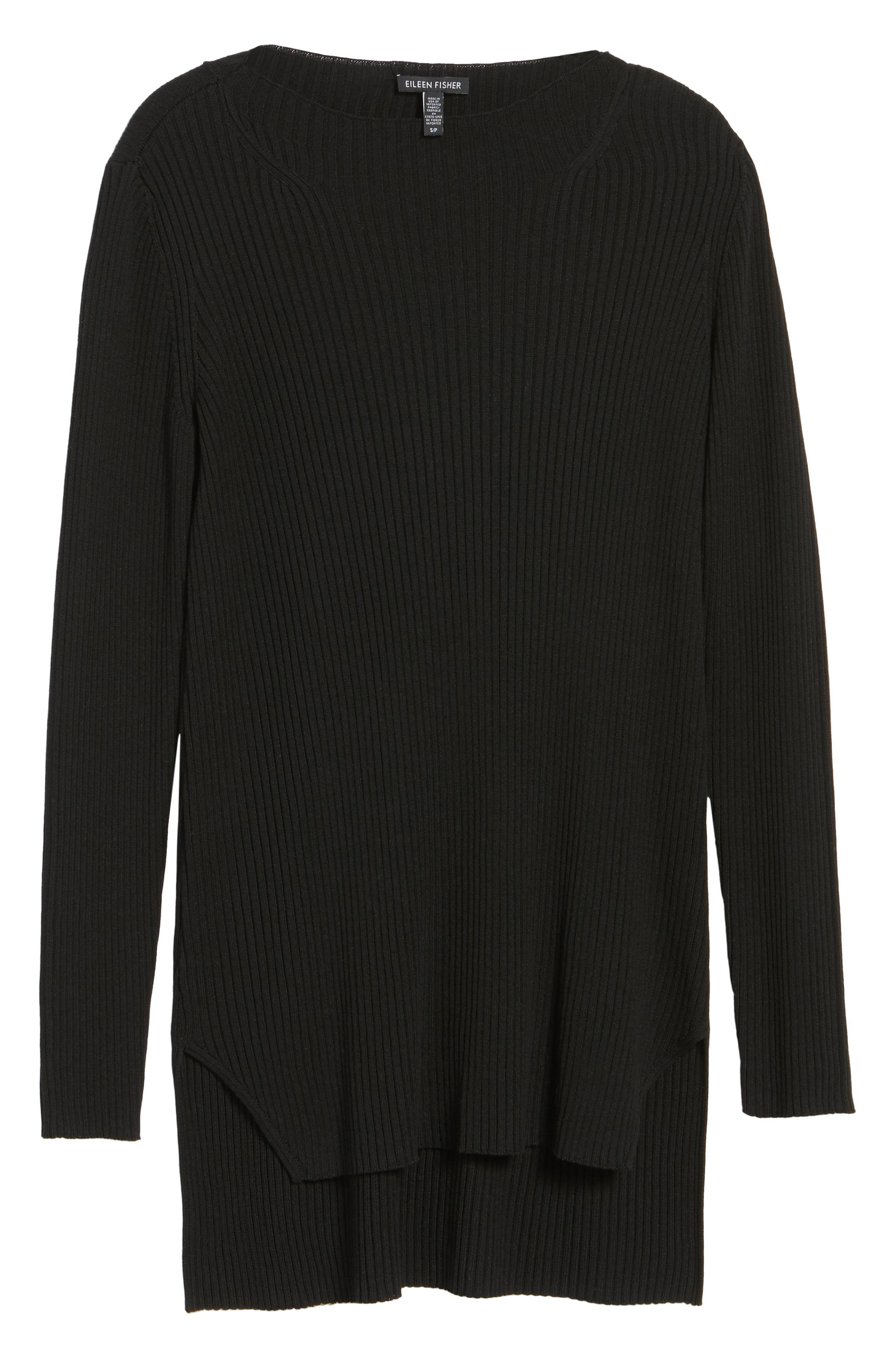 Ribbed Tencel<sup>®</sup> Sweater,                             Alternate thumbnail 6, color,                             001
