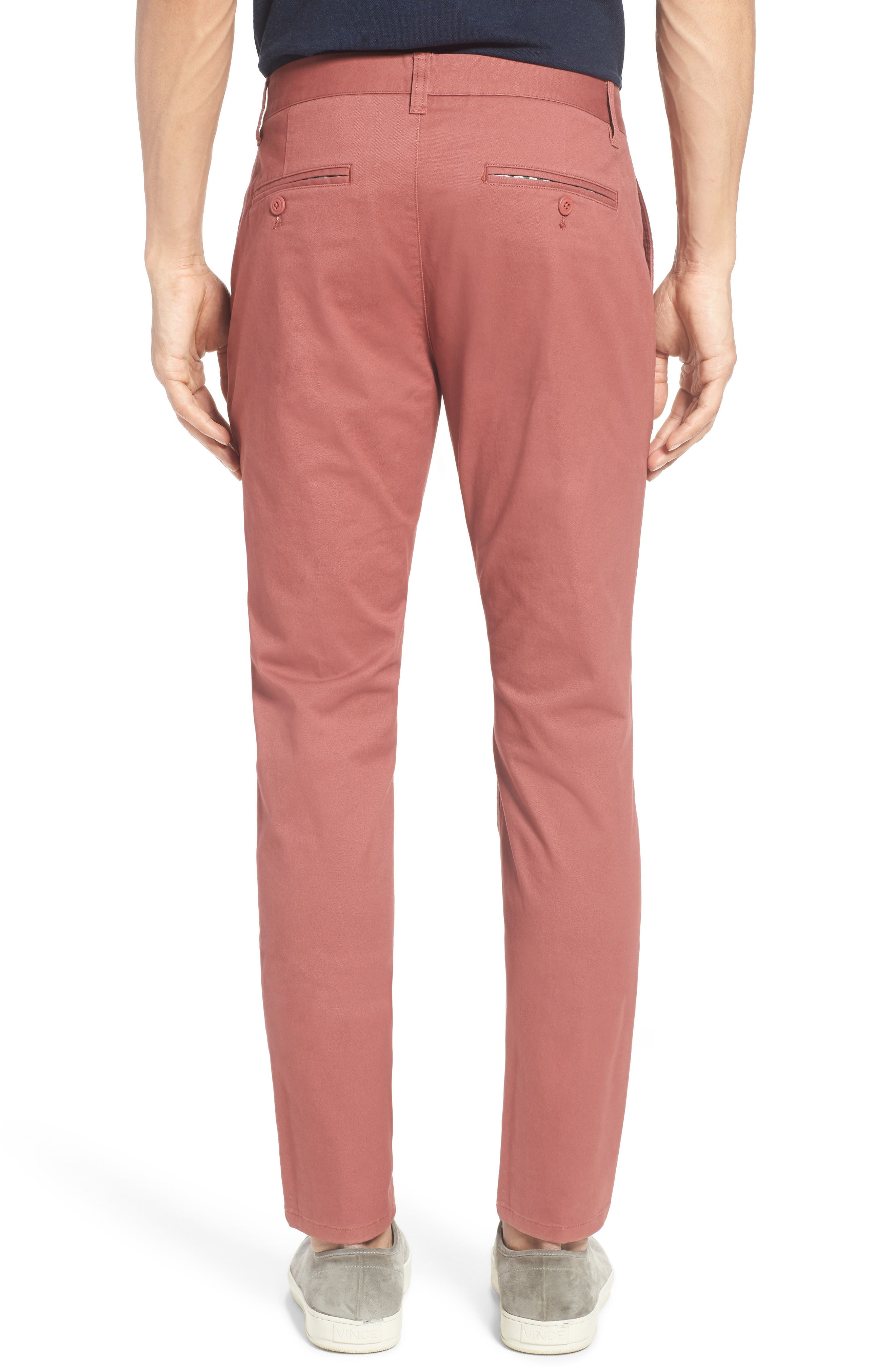 Tailored Fit Washed Stretch Cotton Chinos,                             Alternate thumbnail 69, color,