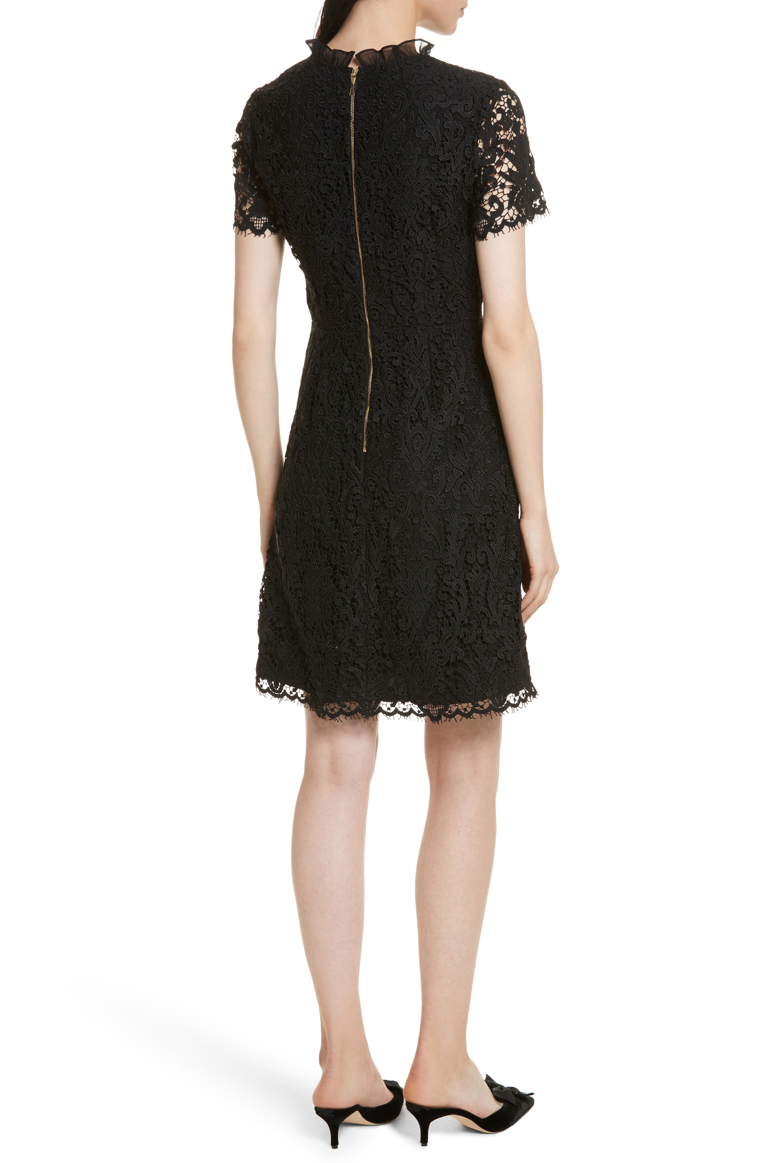 tapestry lace dress,                             Alternate thumbnail 2, color,                             001