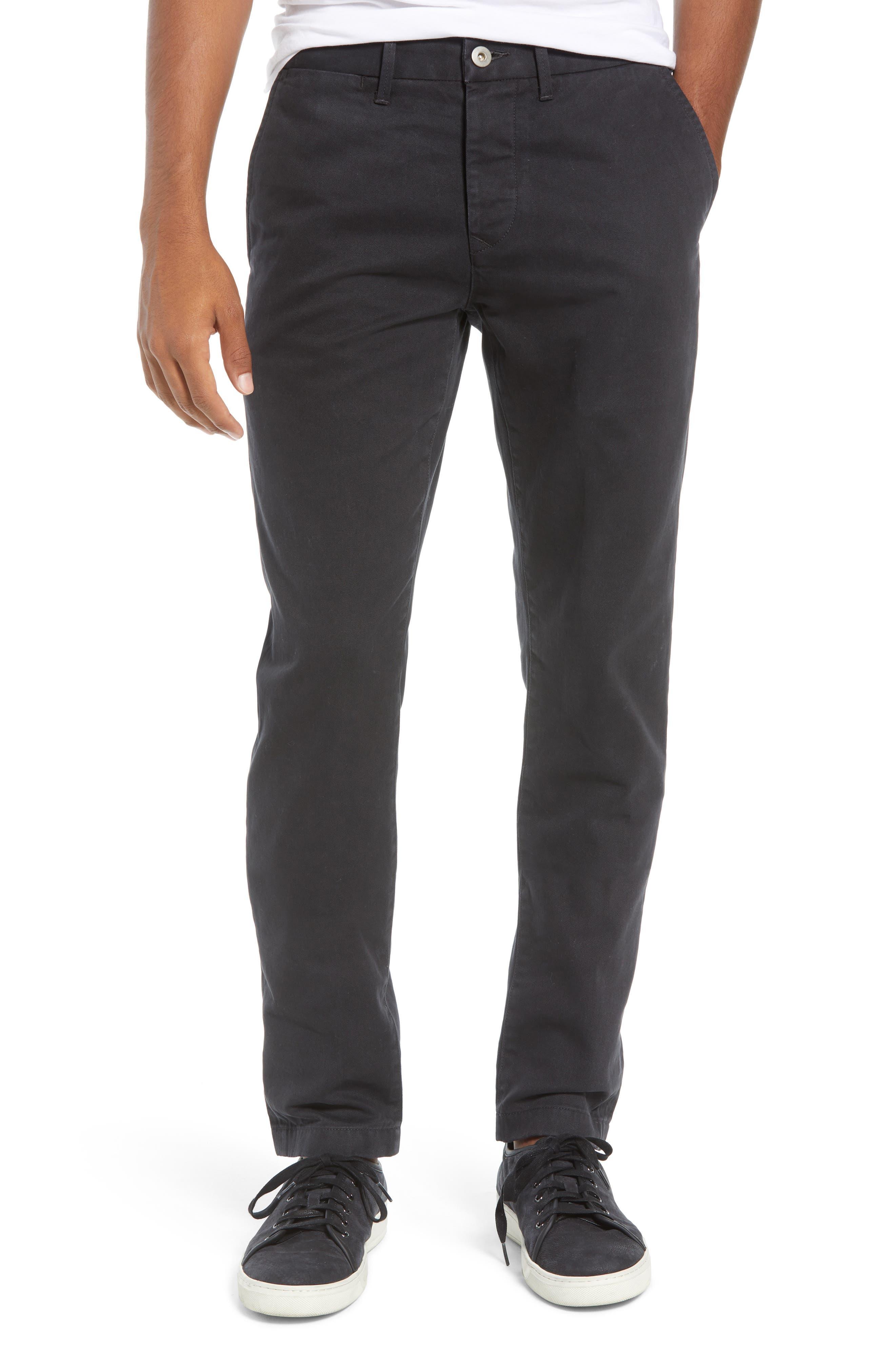 Slim Chino Pants, Main, color, BLACK
