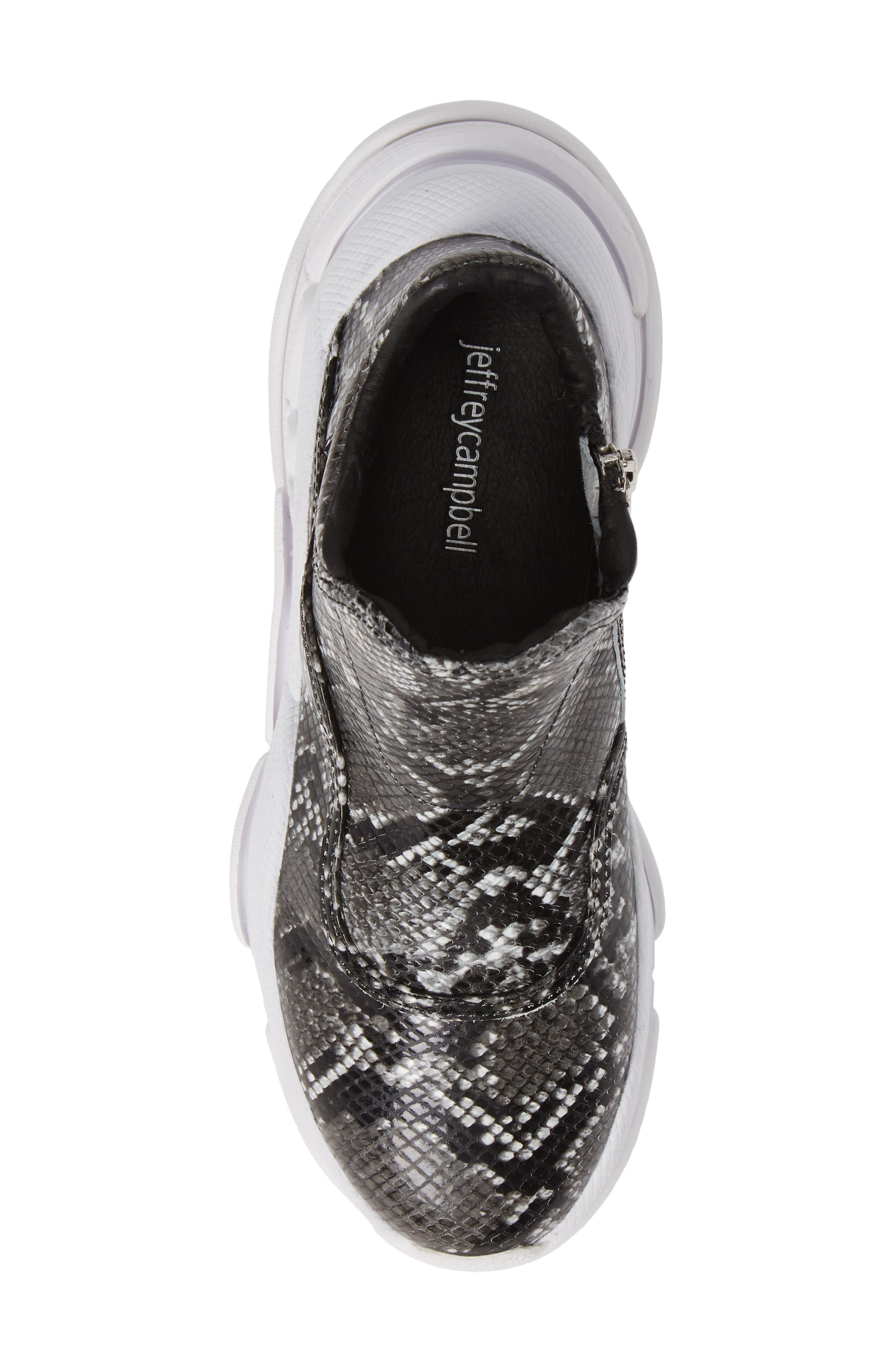 CTRL-DEL Sneaker,                             Alternate thumbnail 5, color,                             GREY BLACK SNAKE
