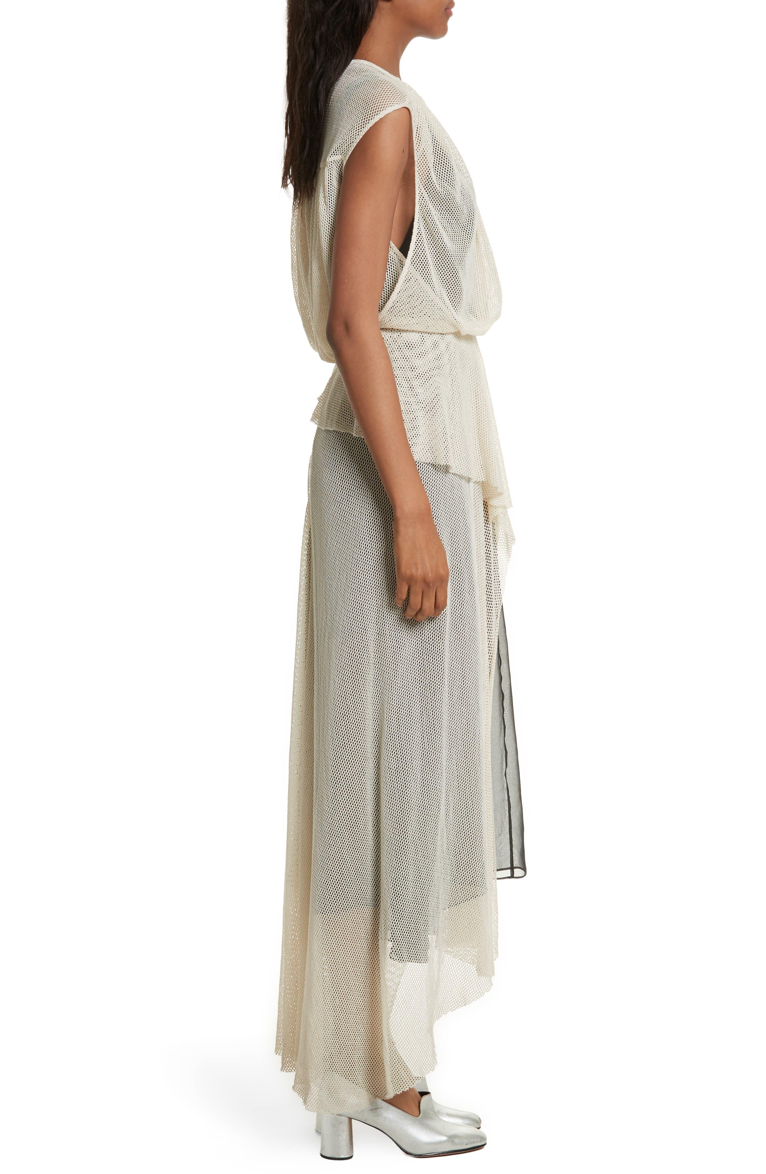 Tangle Ruffle Midi Dress,                             Alternate thumbnail 3, color,                             250