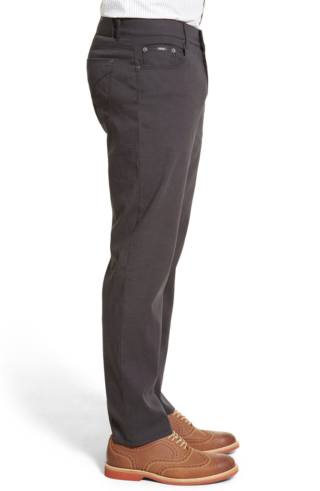 BRAX,                             Flat Front Stretch Cotton Trousers,                             Alternate thumbnail 3, color,                             019