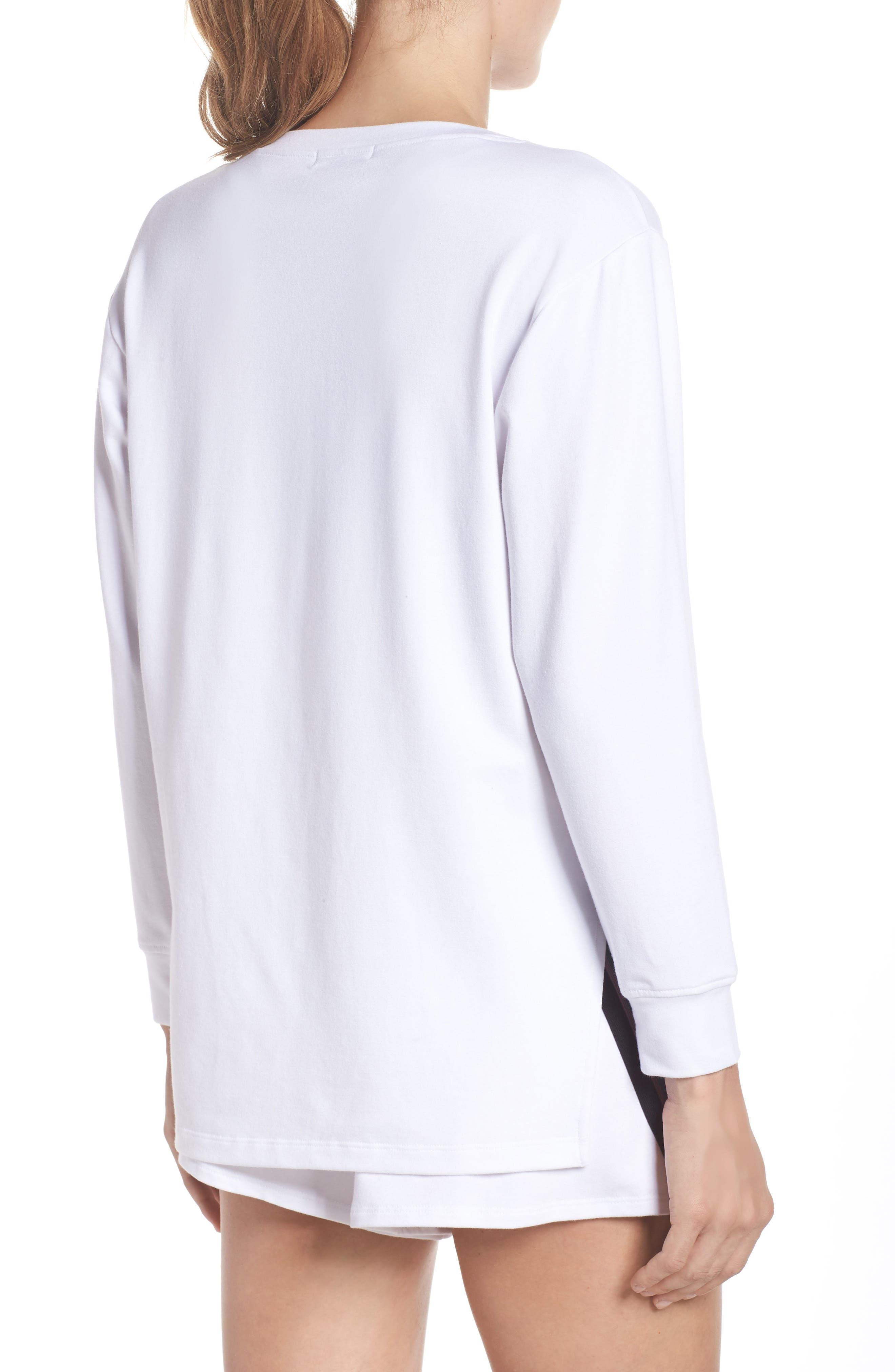Bristol Pullover,                             Alternate thumbnail 2, color,                             WHITE/ BLACK