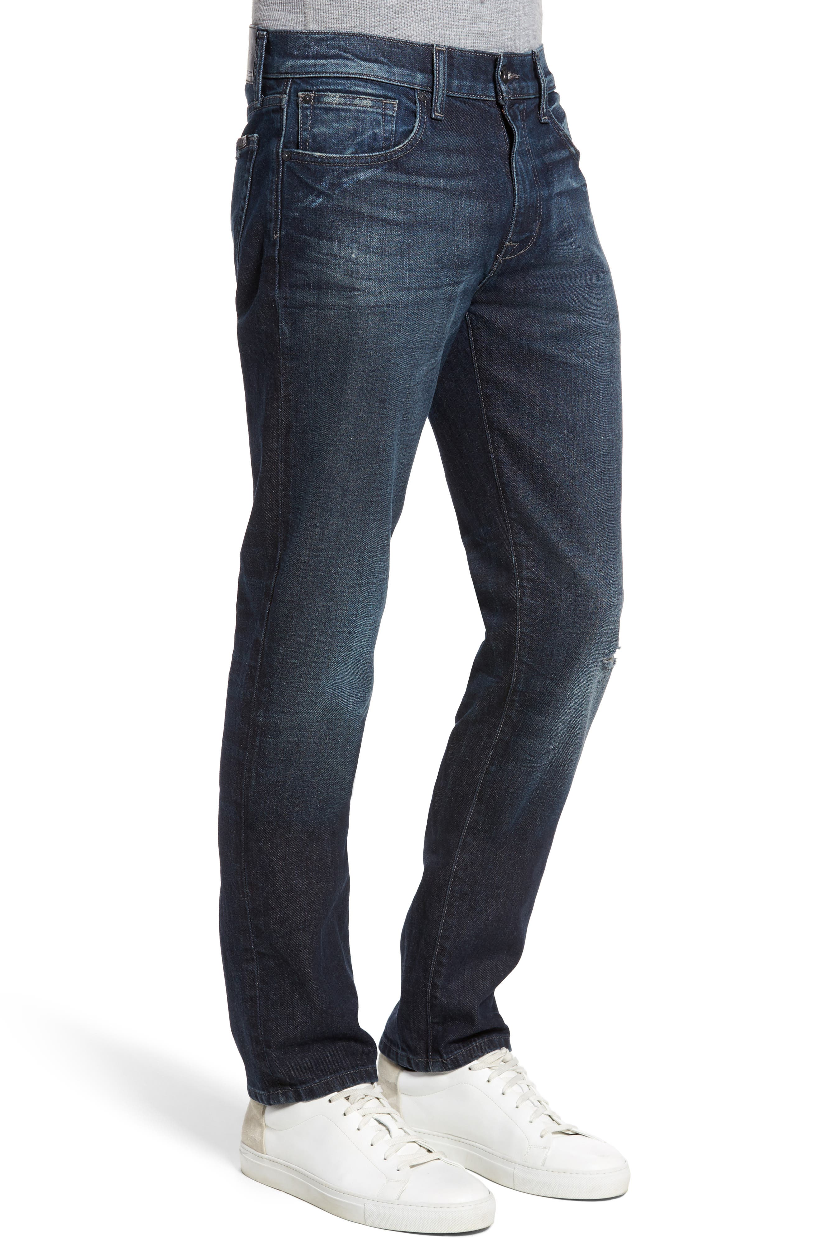 Brixton Slim Straight Leg Jeans,                             Alternate thumbnail 3, color,                             415