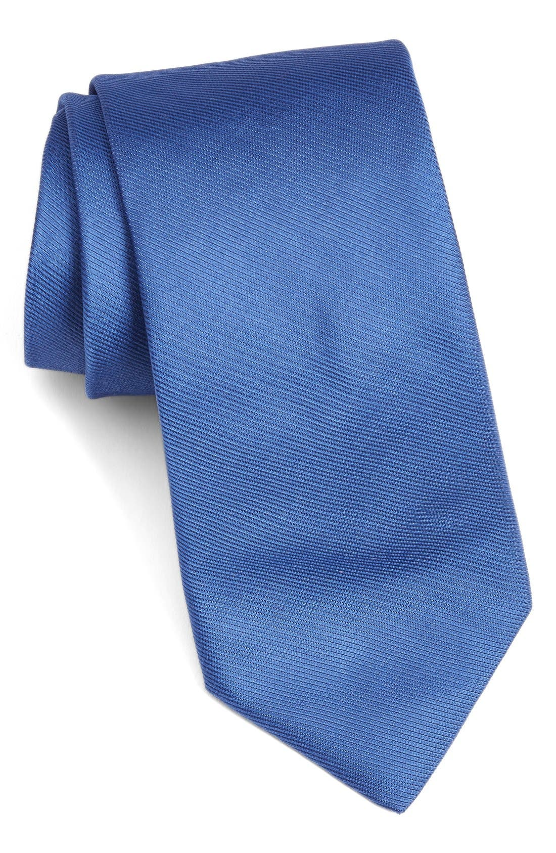 Solid Woven Silk Tie,                             Main thumbnail 4, color,