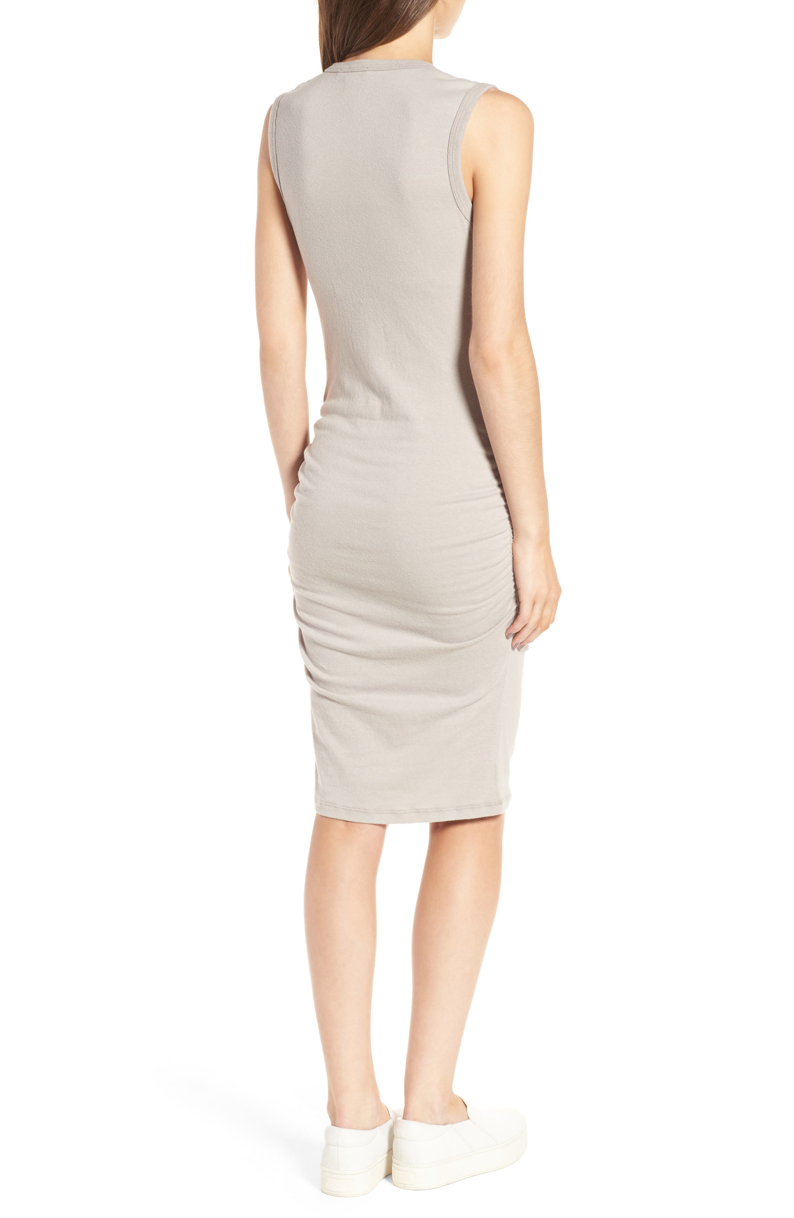 Ruched Tank Dress,                             Alternate thumbnail 3, color,                             085