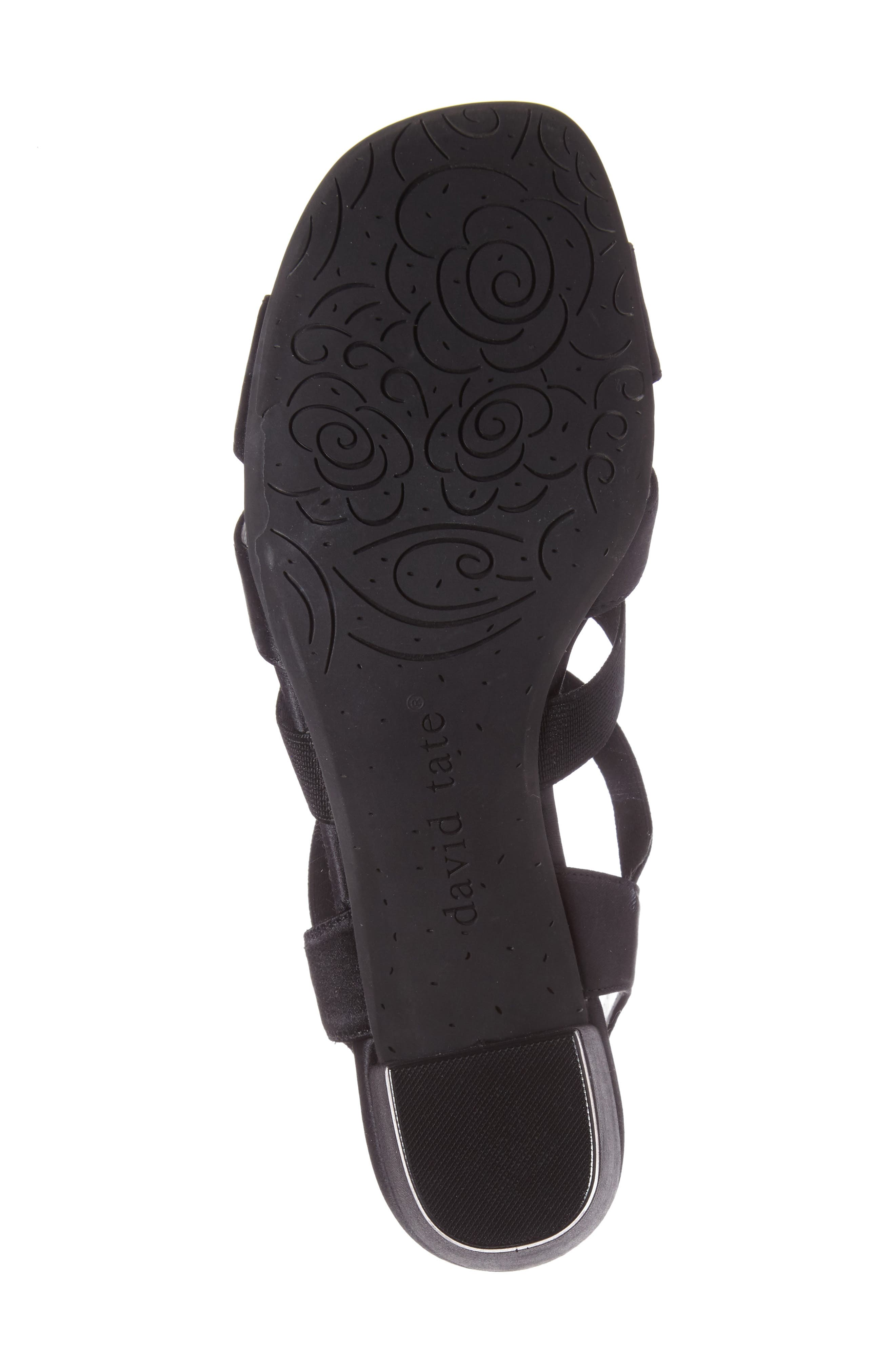 Eve Embellished Sandal,                             Alternate thumbnail 4, color,                             BLACK FABRIC