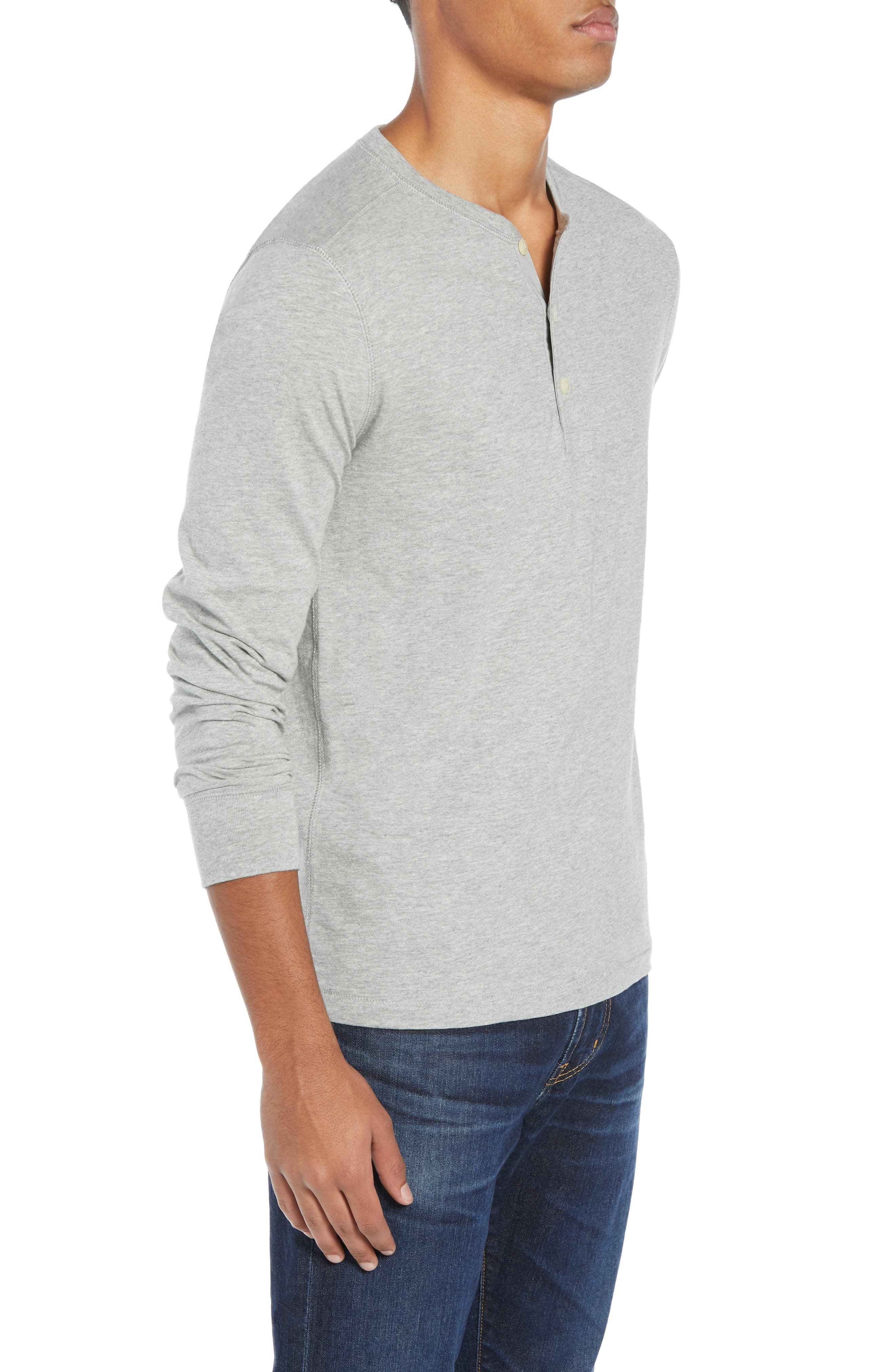 Slim Fit Garment Dyed Slub Cotton Henley,                             Alternate thumbnail 3, color,                             020