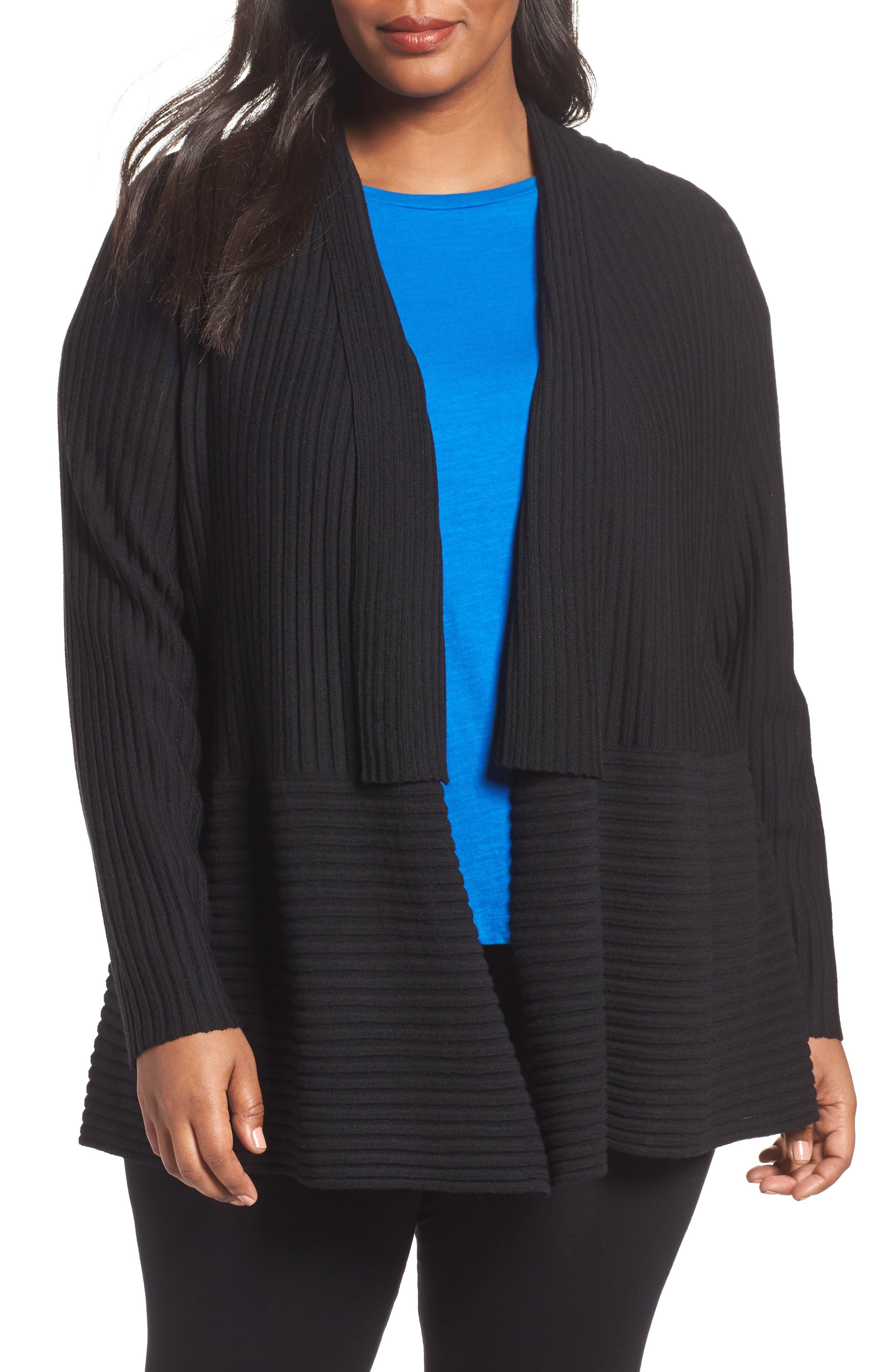Ribbed Merino Wool Long Cardigan,                         Main,                         color,
