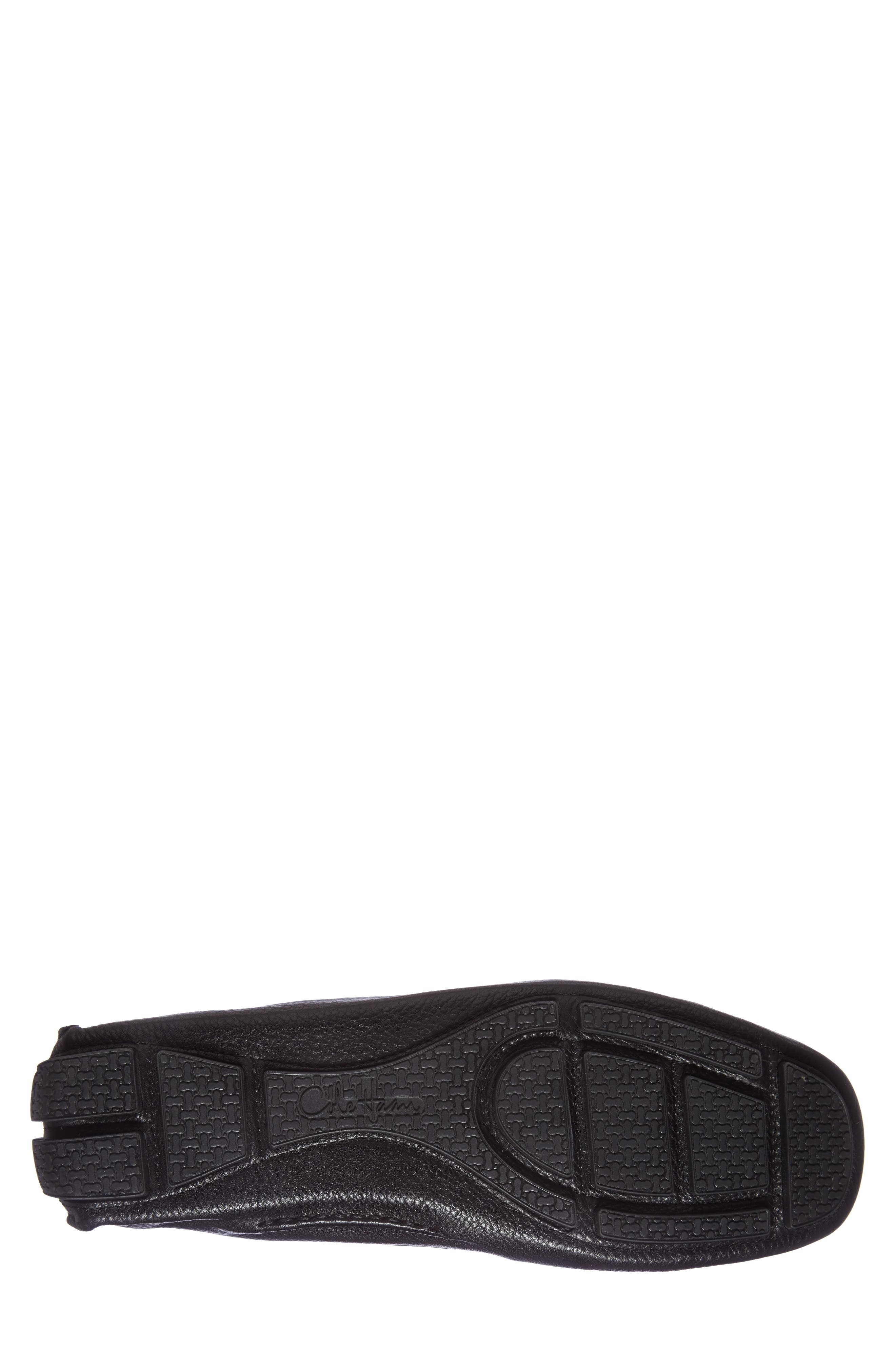 'Howland' Penny Loafer,                             Alternate thumbnail 9, color,                             BLACK TUMBLED