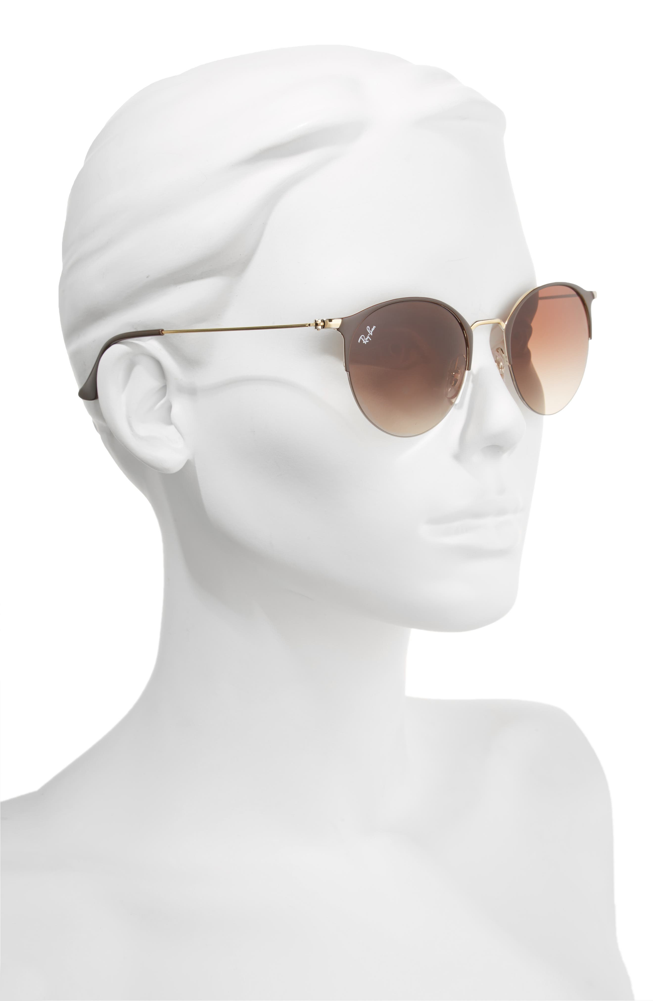 50mm Round Clubmaster Sunglasses,                             Alternate thumbnail 2, color,                             200