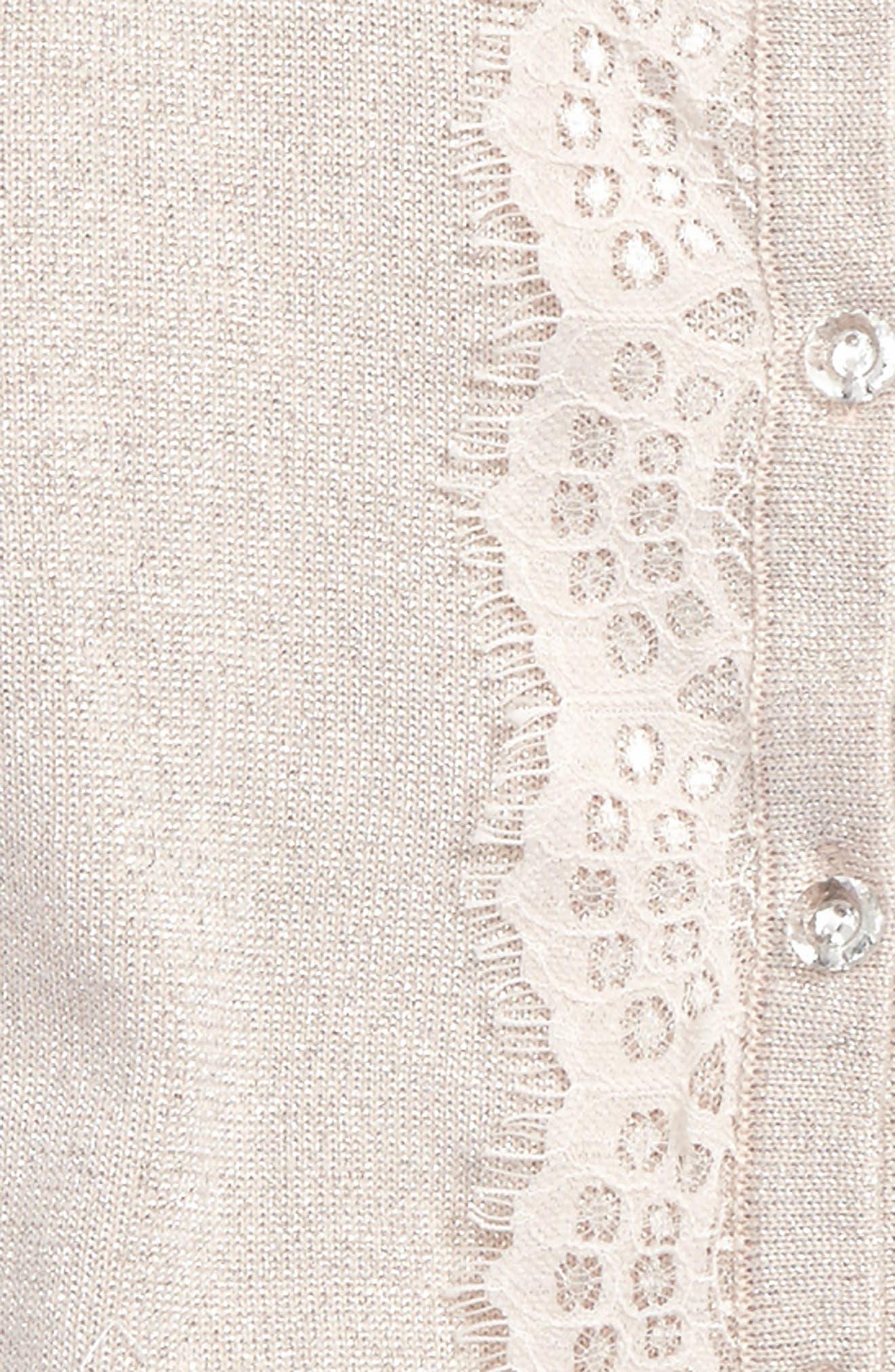 Lace Trim Cardigan,                             Alternate thumbnail 2, color,                             695