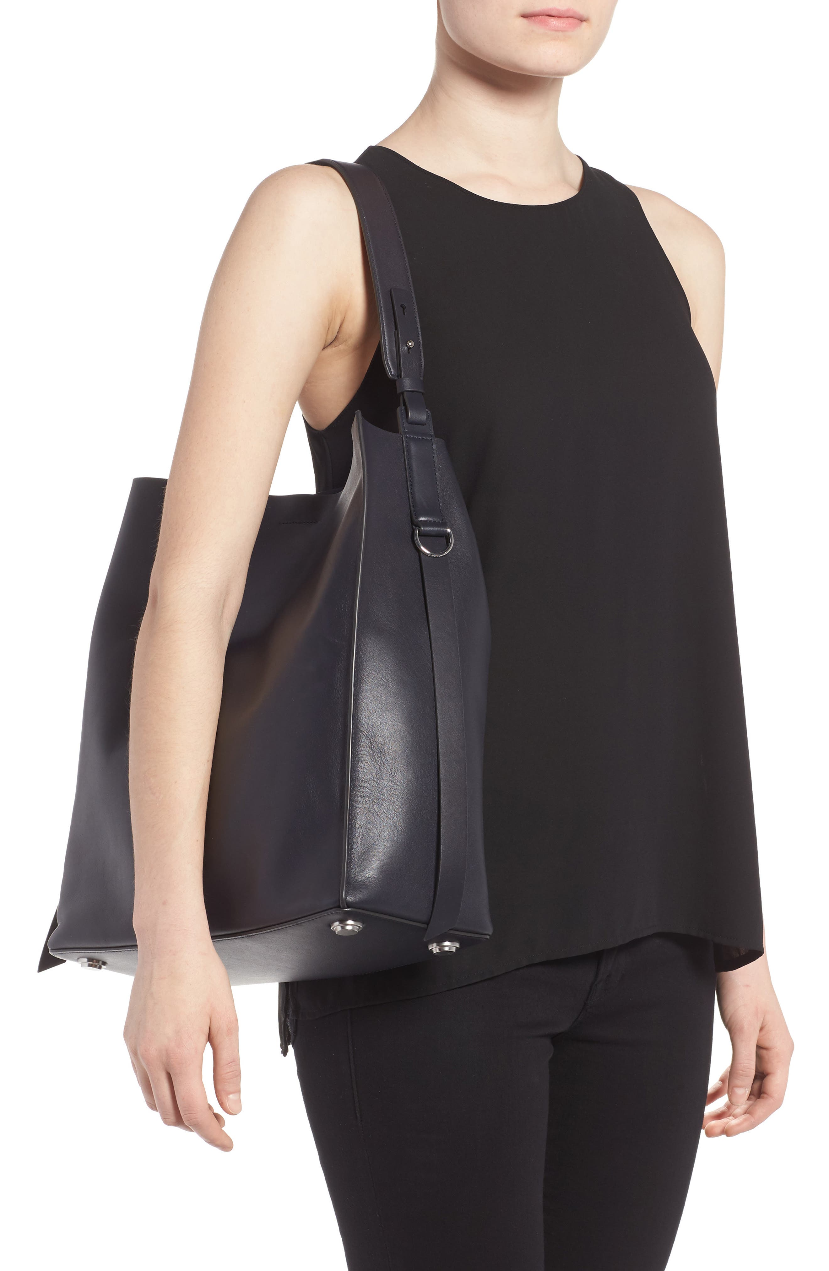 'Paradise North/South' Calfskin Leather Tote,                             Alternate thumbnail 19, color,