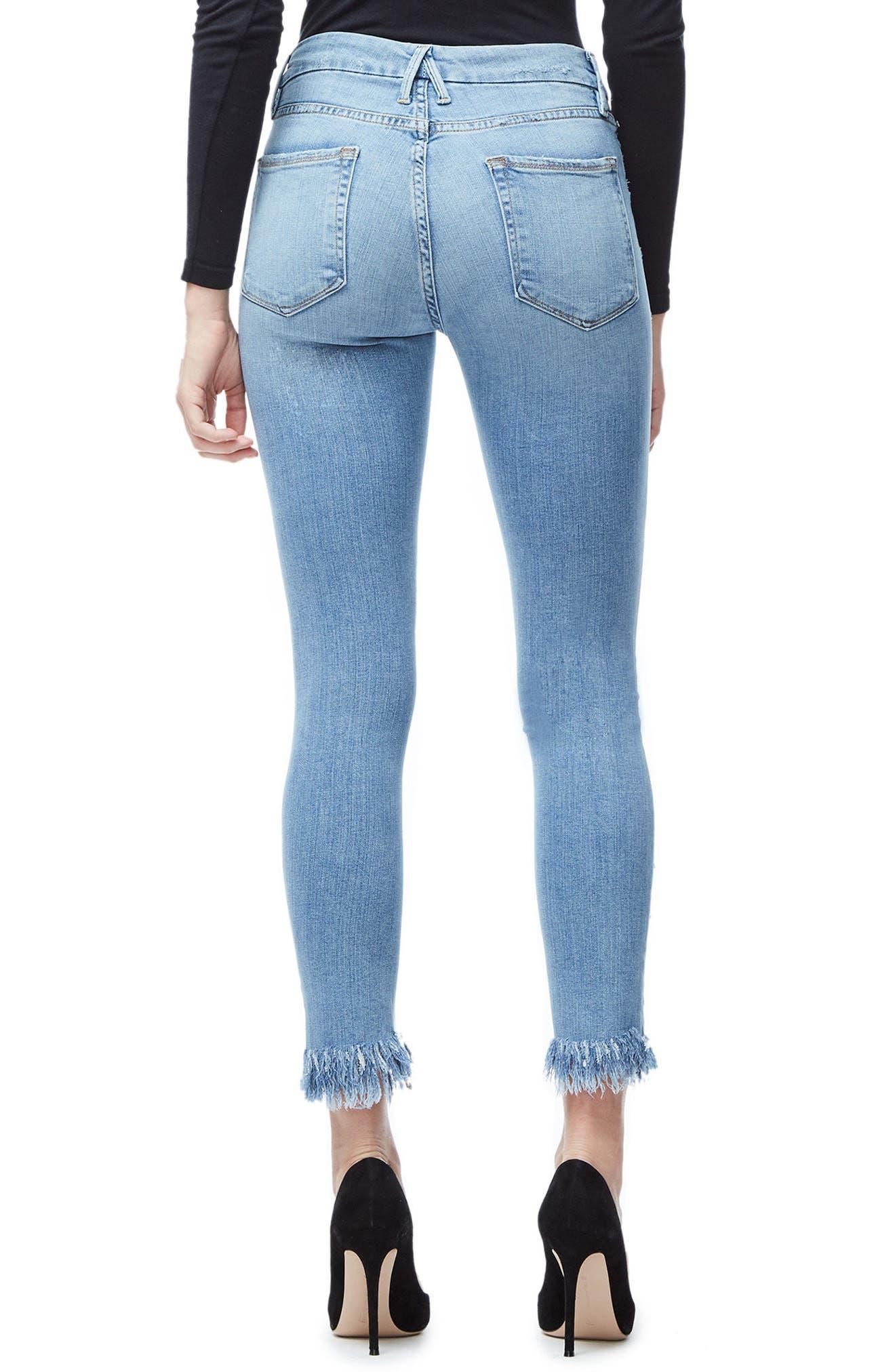 Good Legs Fray Ankle Skinny Jeans,                             Alternate thumbnail 2, color,                             407