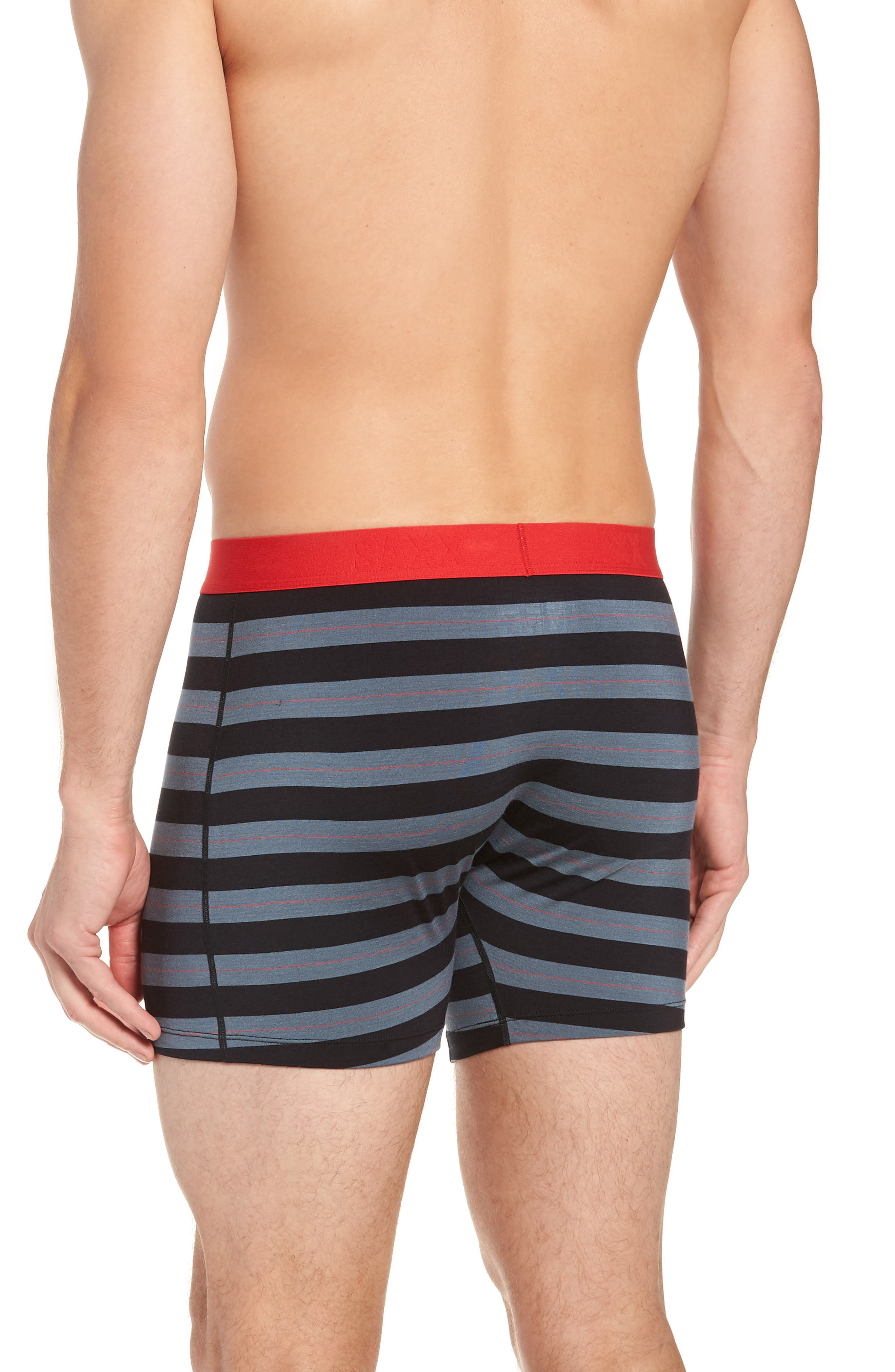 Ultra Holiday 3-Pack Stretch Boxer Briefs,                             Alternate thumbnail 3, color,                             BLACK/ RED MULTI