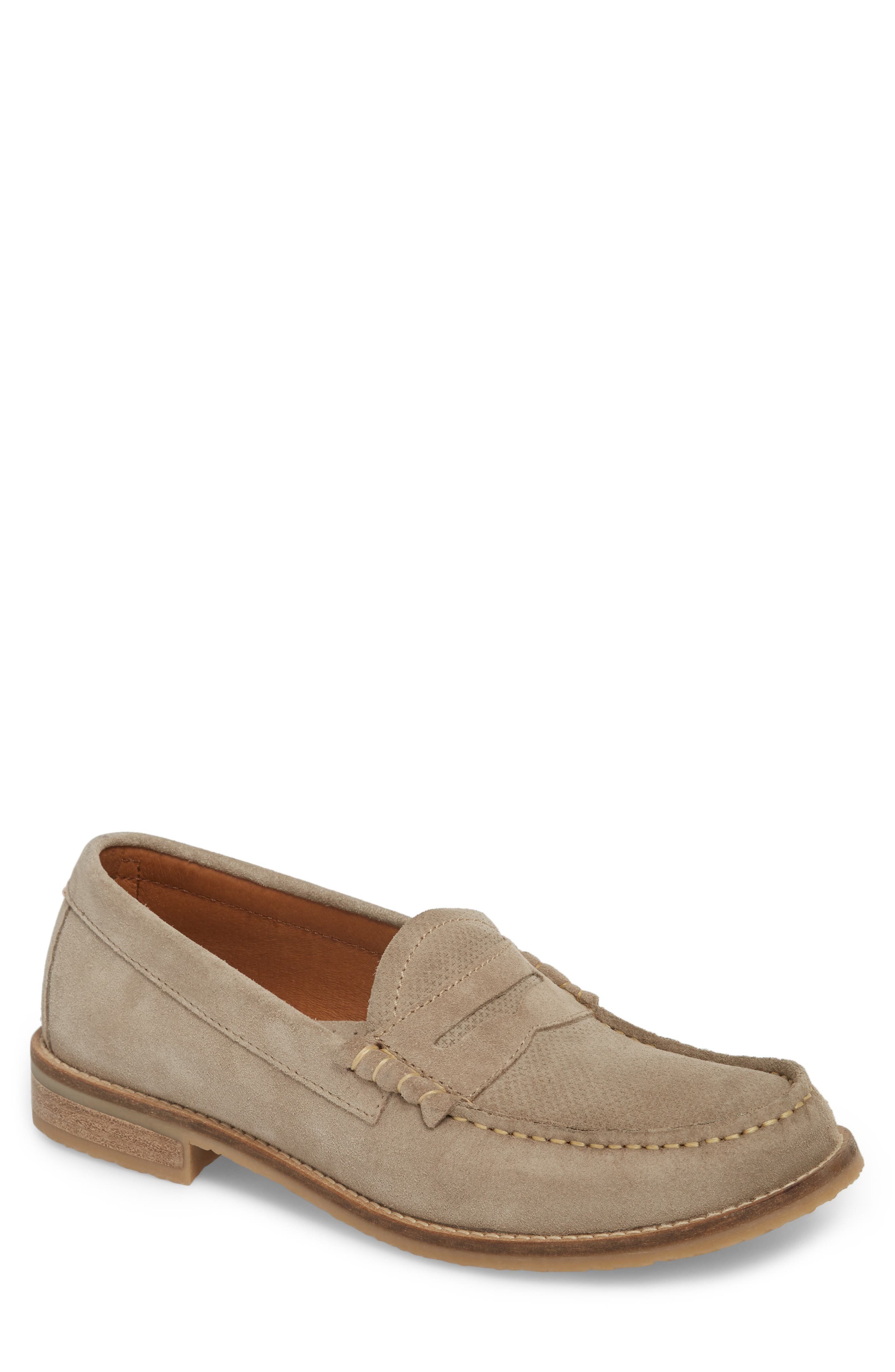 Wayne Textured Penny Loafer,                         Main,                         color, EARTH BEIGE