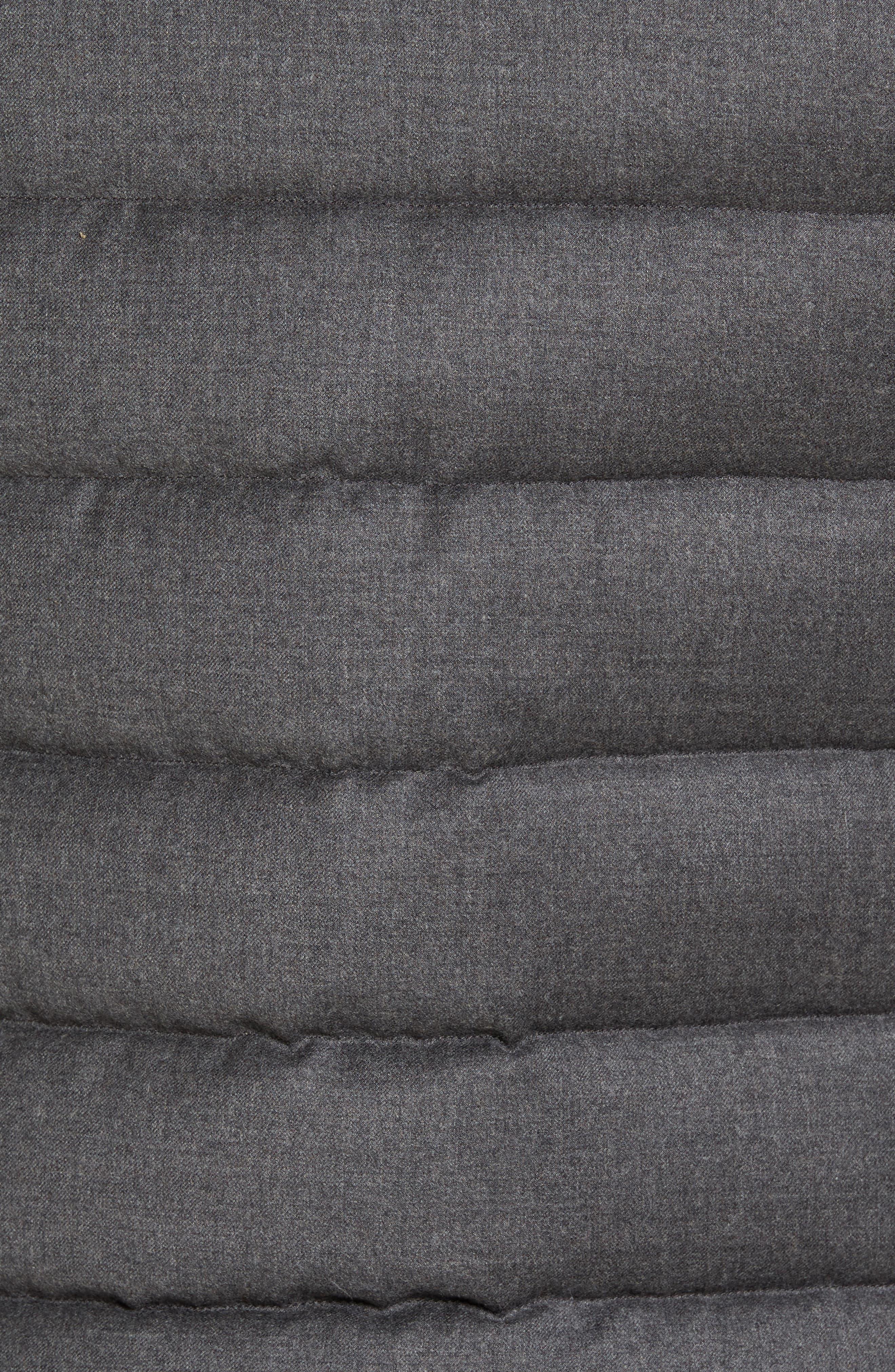 Oliver L Wool & Cashmere Flannel Waterproof Vest,                             Alternate thumbnail 6, color,                             030