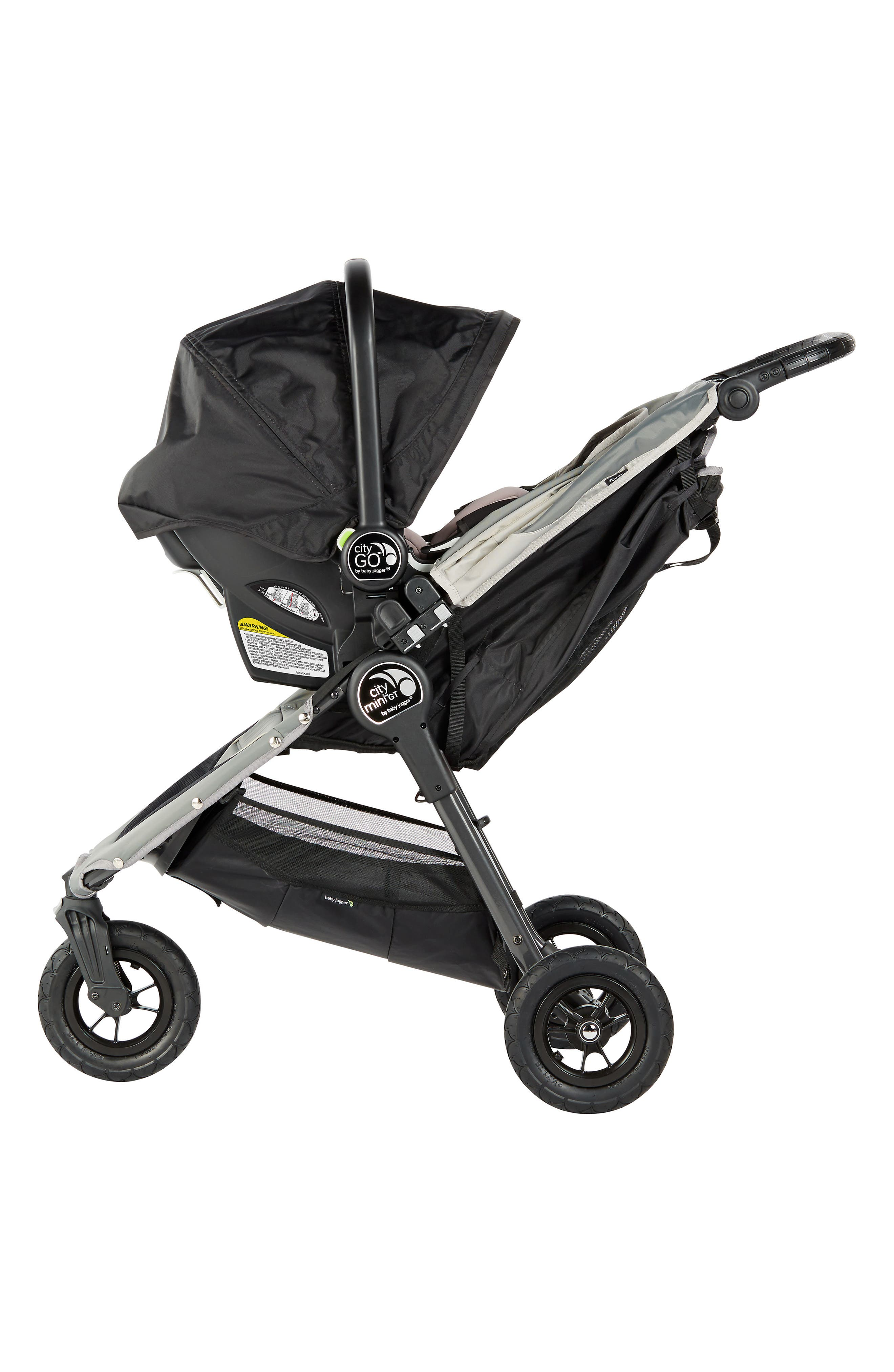 City Mini Single Stroller & City Go Infant Car Seat Travel System,                             Alternate thumbnail 2, color,                             BLACK