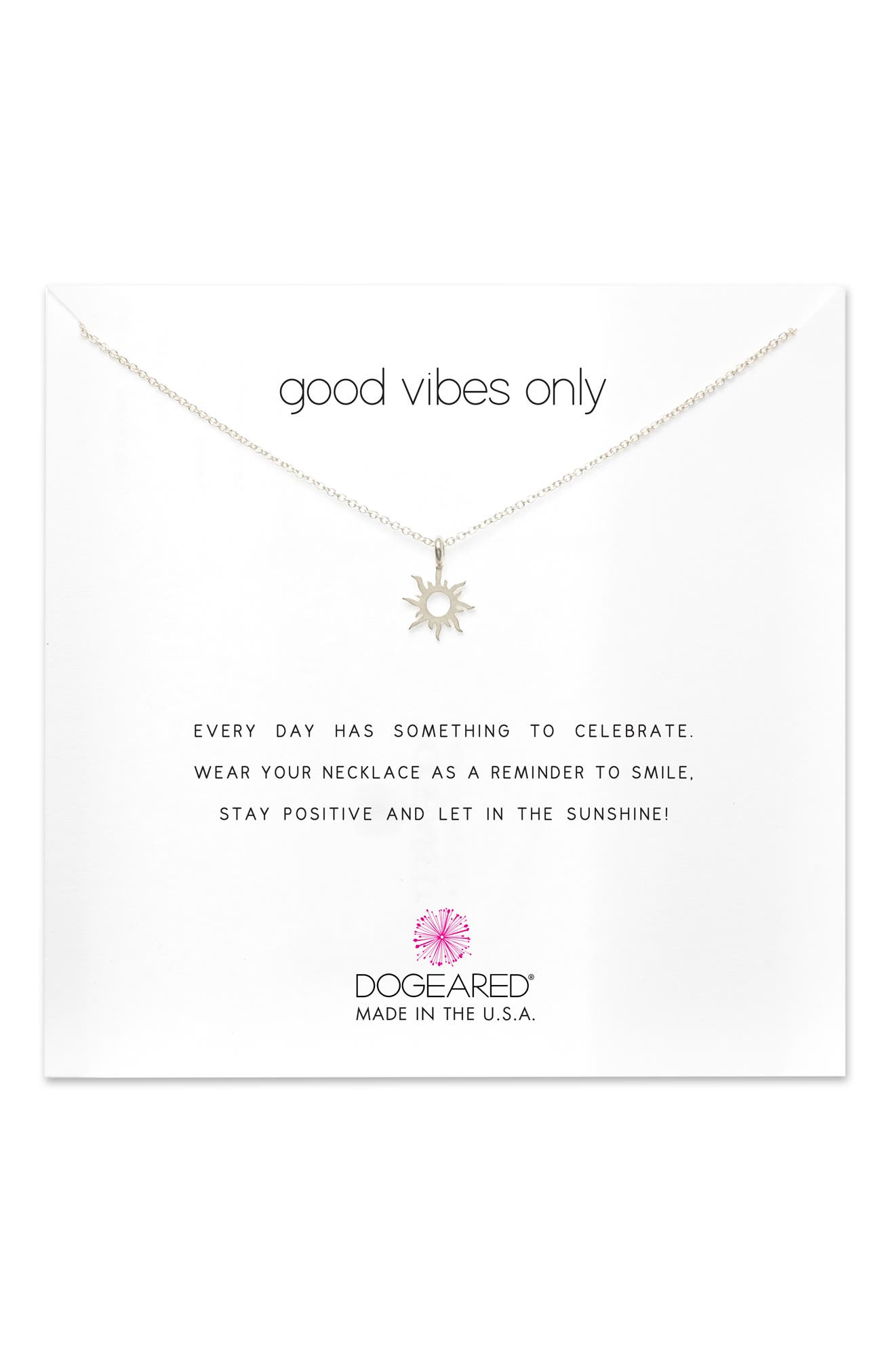 Good Vibes Only Pendant Necklace,                             Main thumbnail 1, color,                             041