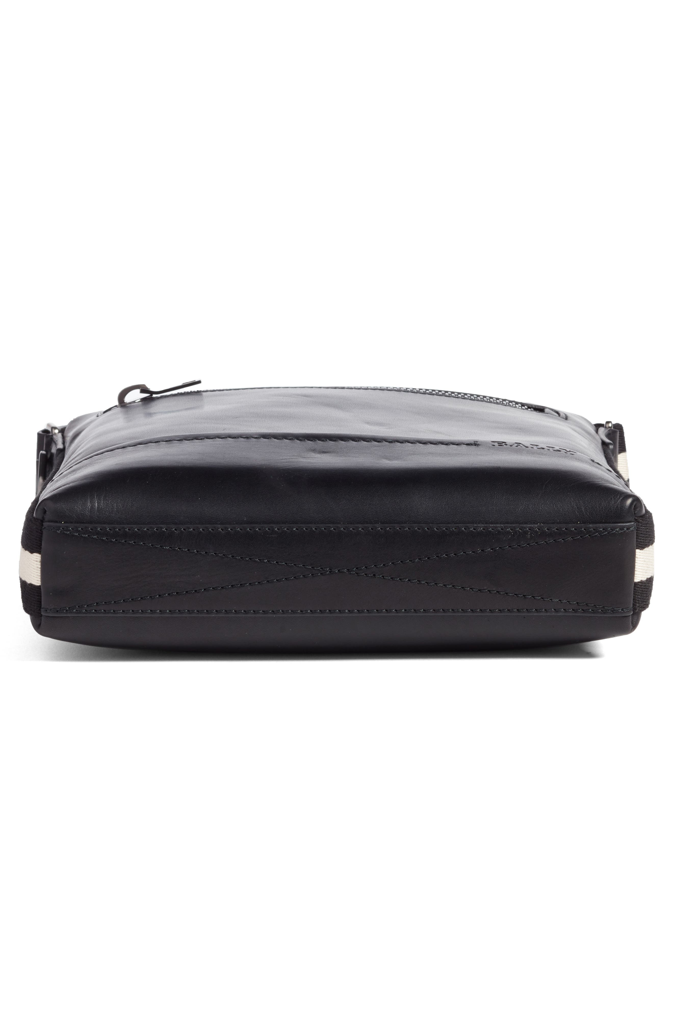 BALLY,                             Trezzini Leather Crossbody Bag,                             Alternate thumbnail 6, color,                             001
