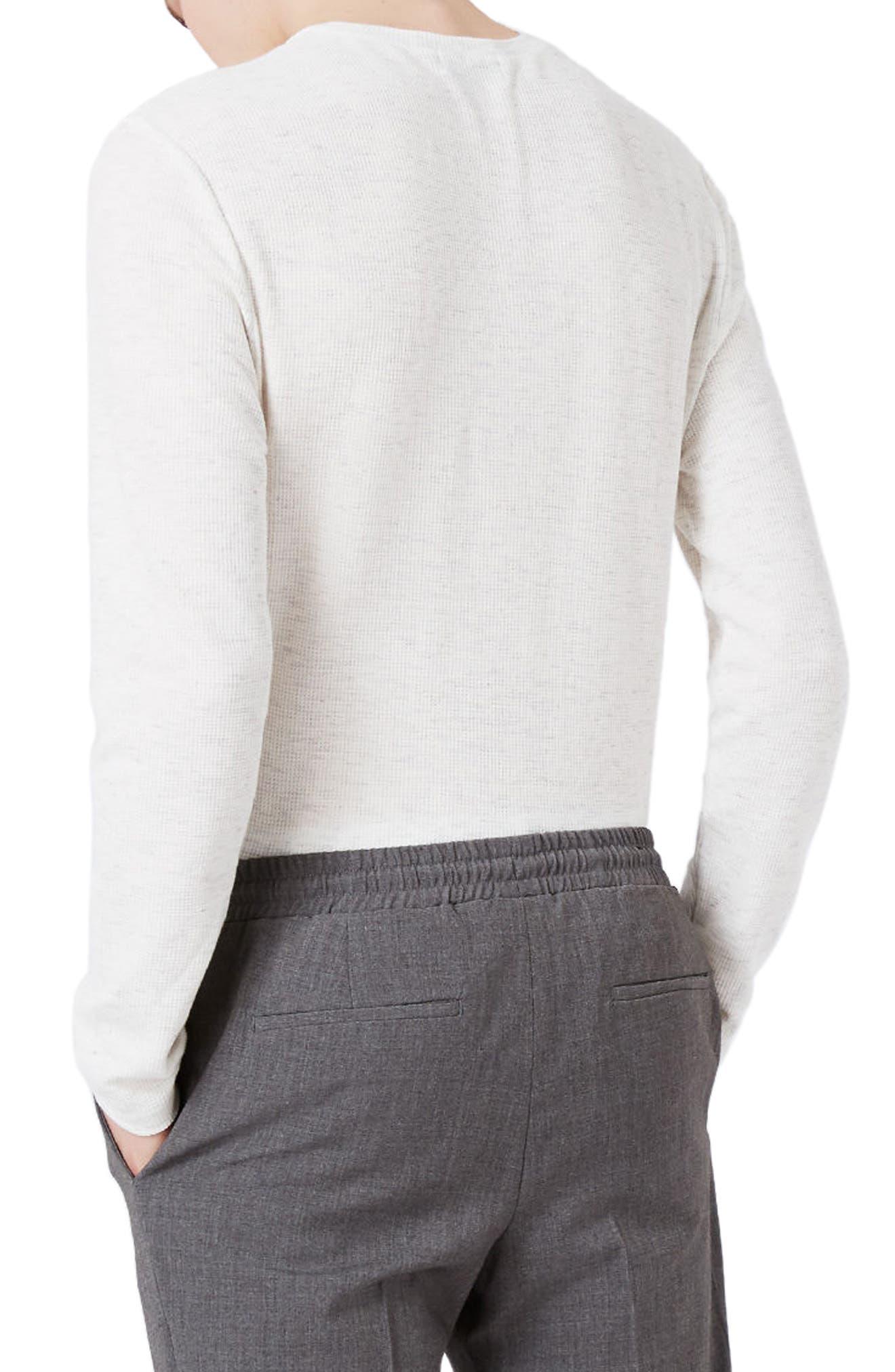 Waffle Knit Long Sleeve T-Shirt,                             Alternate thumbnail 10, color,