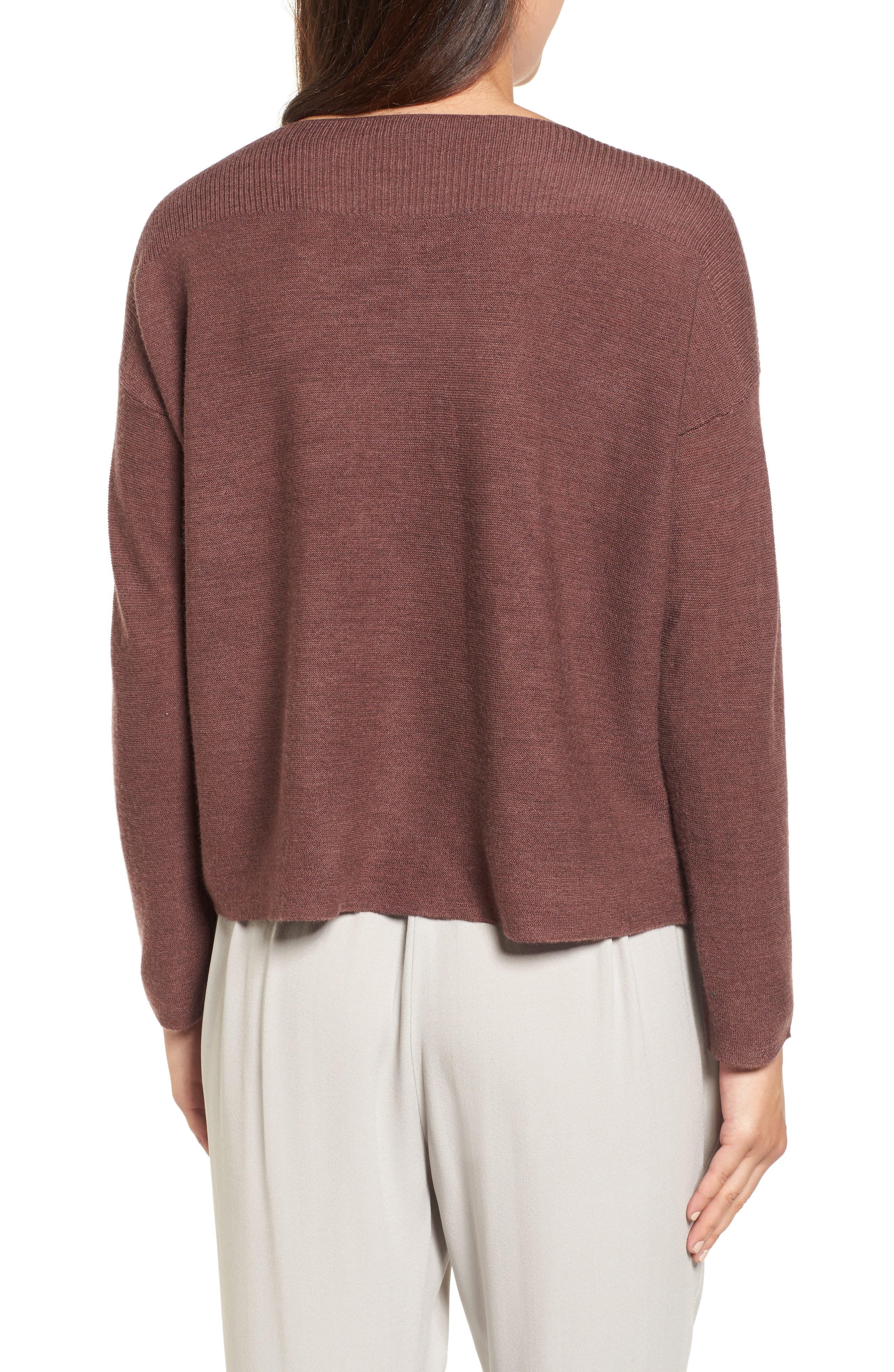 Mix Stitch Merino Bateau Neck Sweater,                             Alternate thumbnail 2, color,                             216