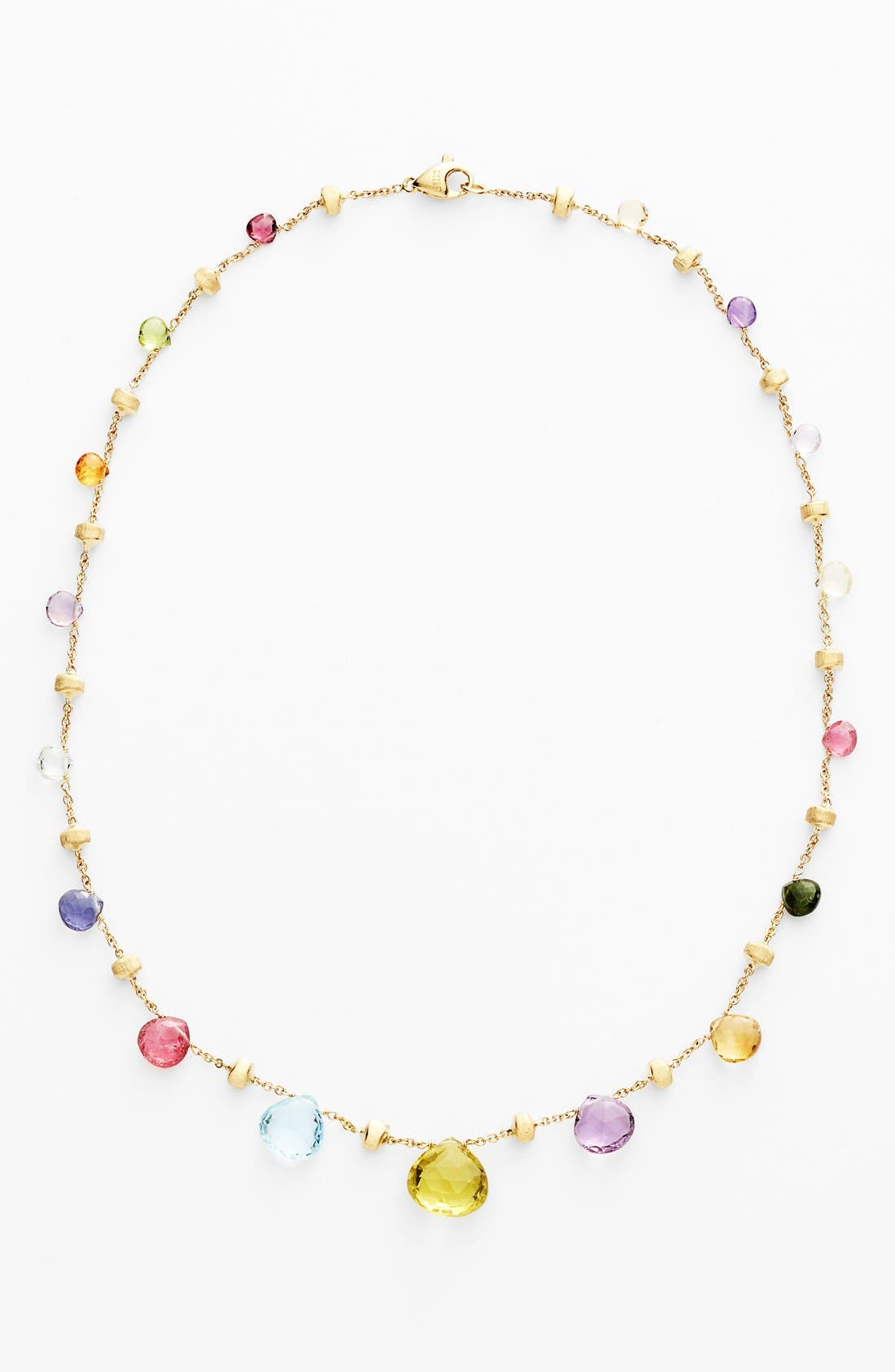 'Paradise' Collar Necklace,                             Alternate thumbnail 4, color,                             MULTI/ YELLOW GOLD