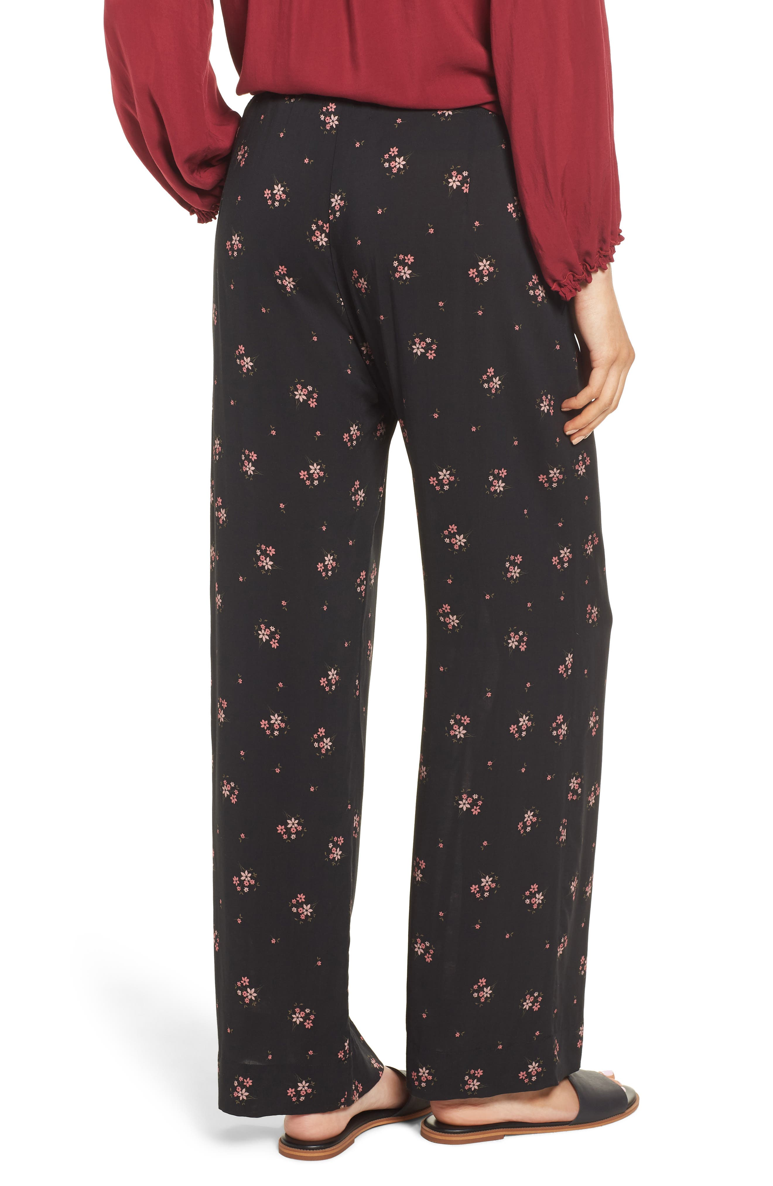 Floral Printed Pants,                             Alternate thumbnail 2, color,                             CAMELLIA