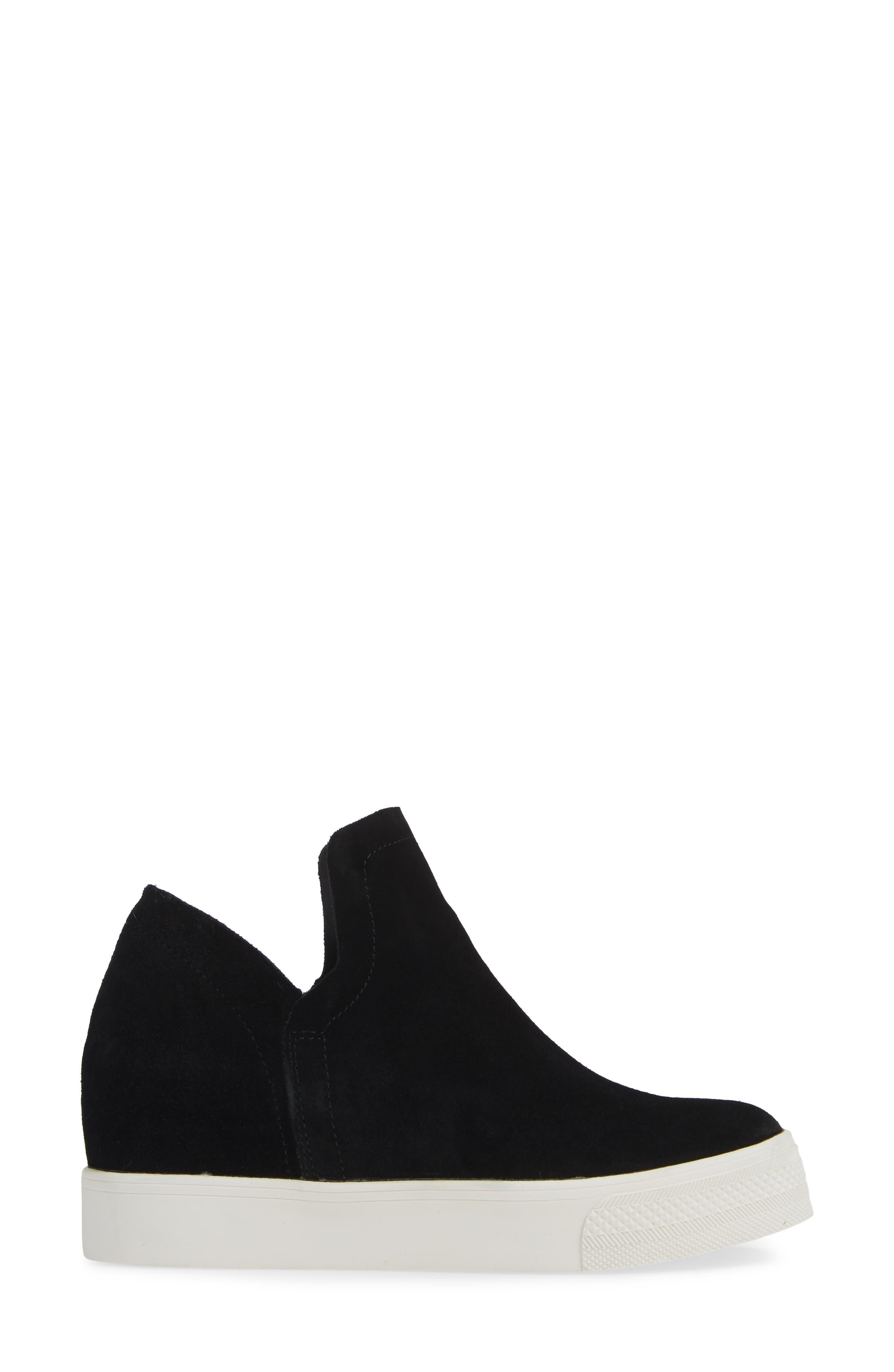 Wrangle Sneaker,                             Alternate thumbnail 3, color,                             BLACK SUEDE