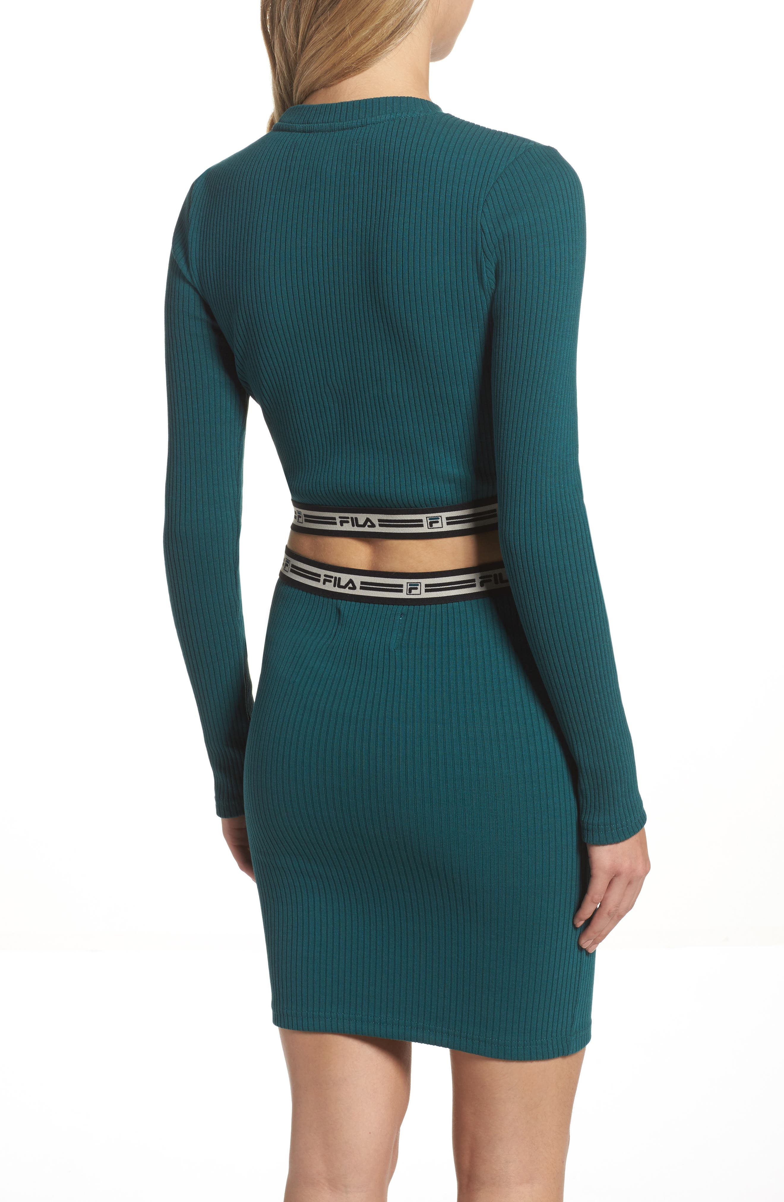 Colleen Long Sleeve Crop Top,                             Alternate thumbnail 2, color,                             440