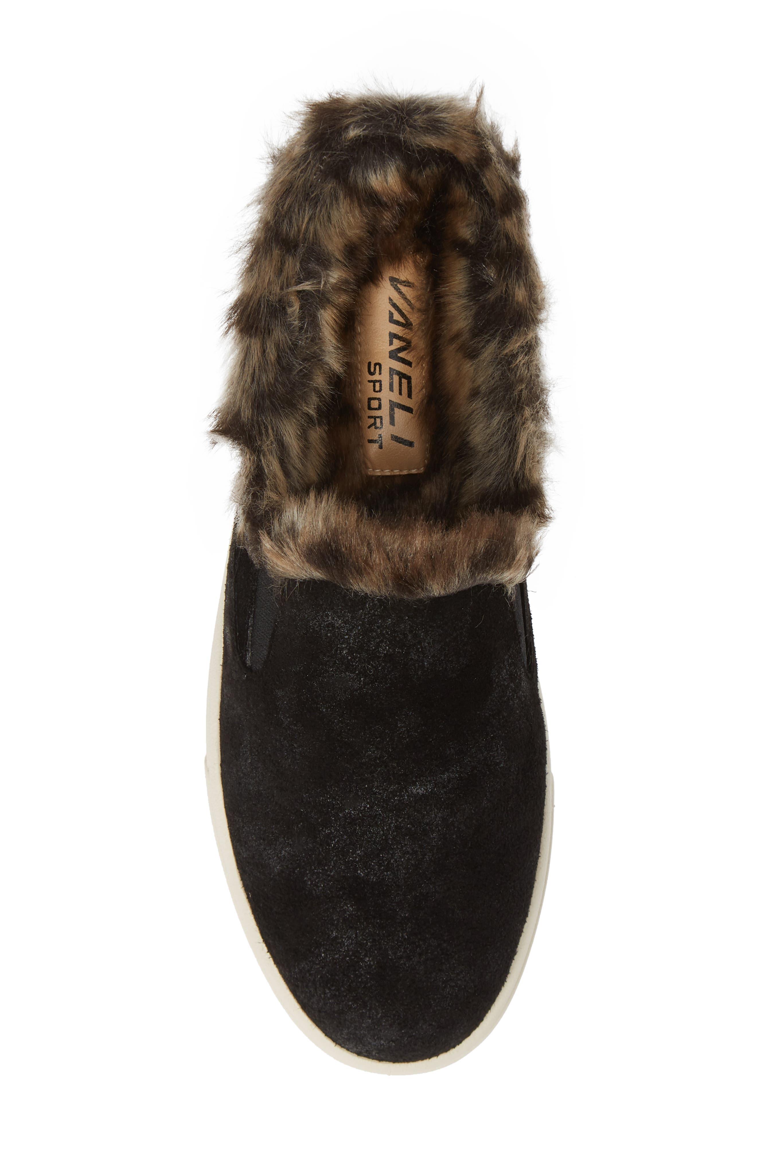 VANELI,                             Yasir Slip-On Sneaker,                             Alternate thumbnail 5, color,                             BLACK SUEDE
