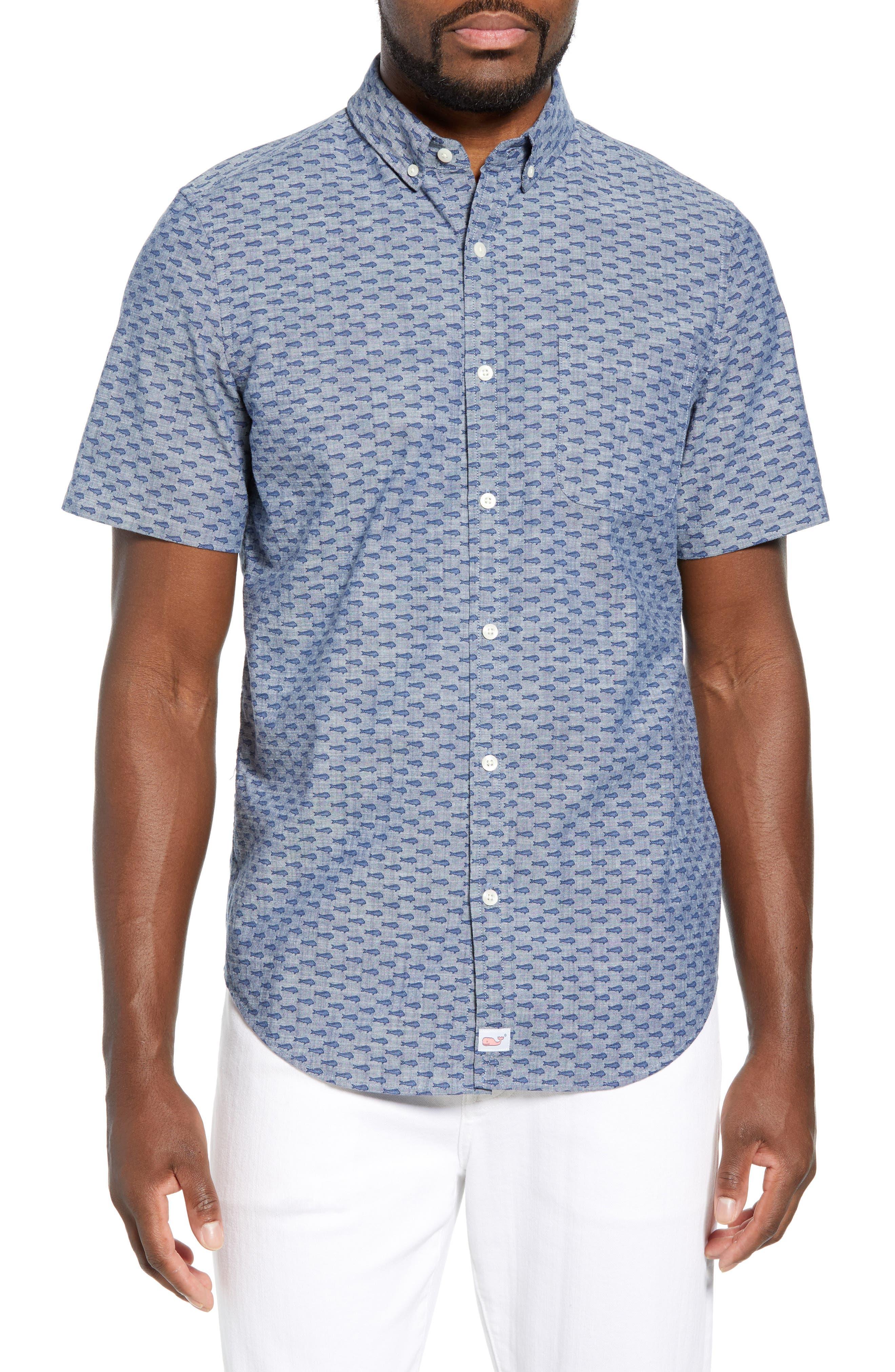VINEYARD VINES Murray Slim Fit Sport Shirt, Main, color, SKYFALL