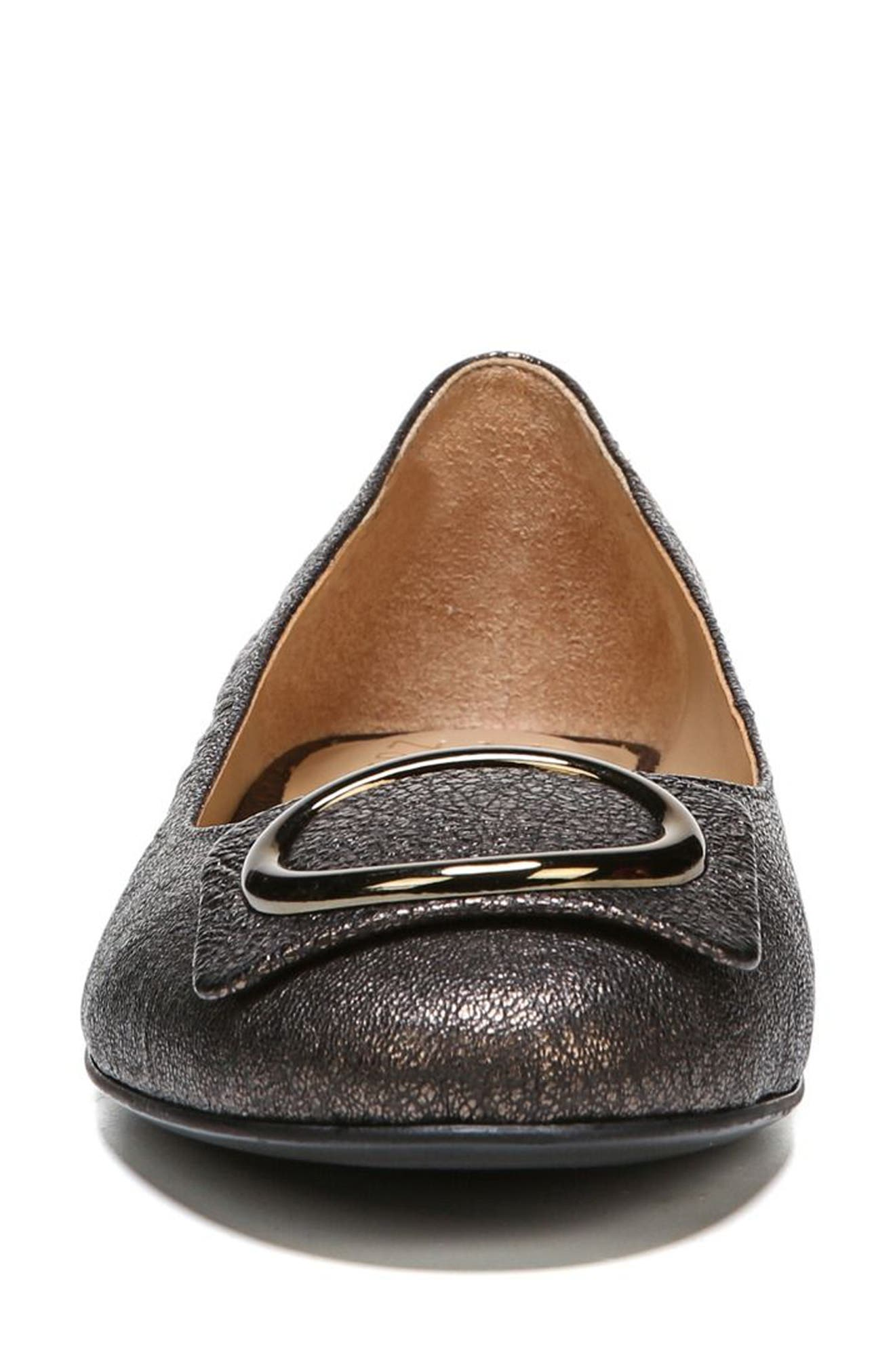 Geona Flat,                             Alternate thumbnail 4, color,                             BRONZE LEATHER