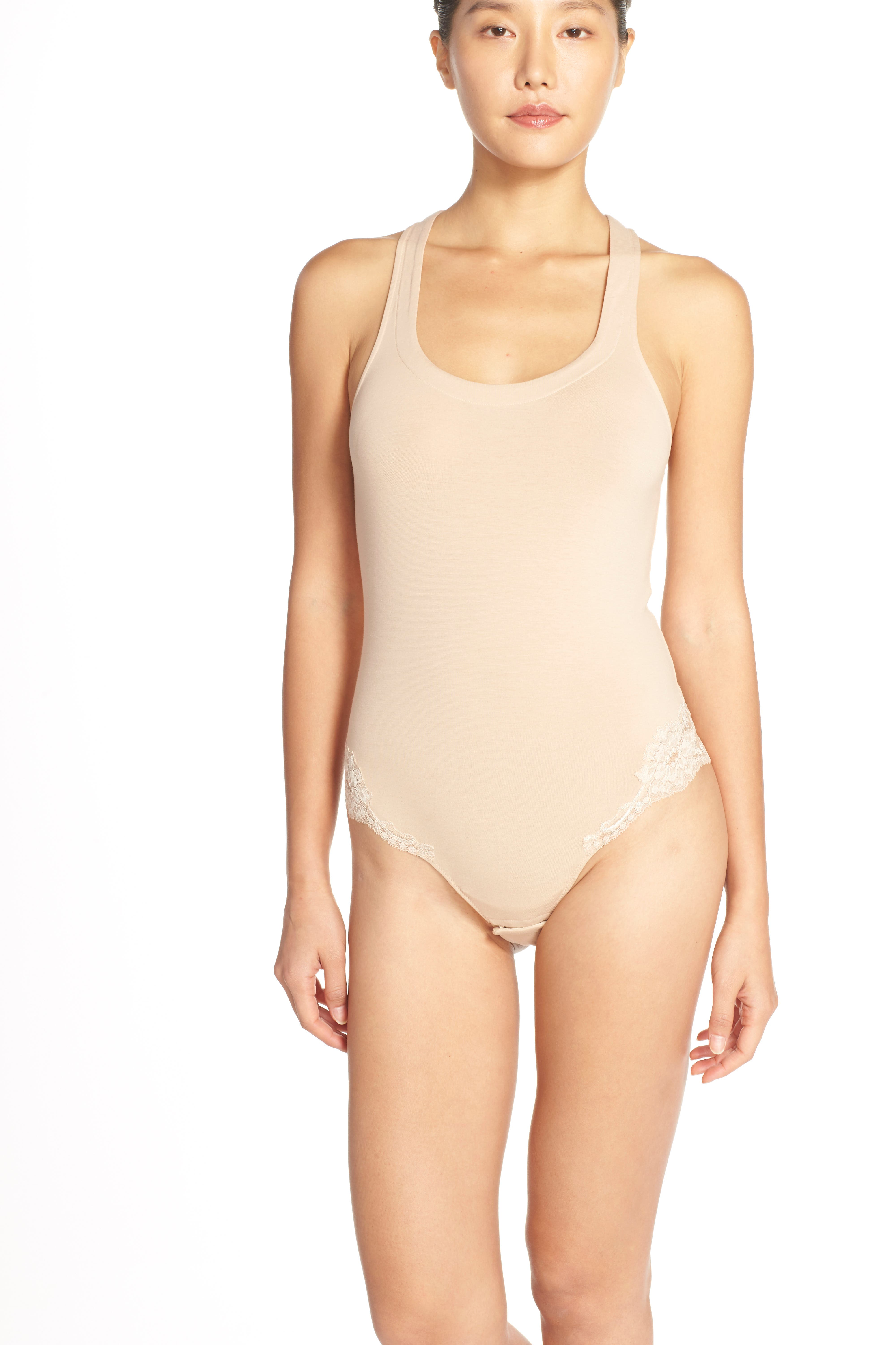 'Spalla Larga' Racerback Bodysuit,                             Alternate thumbnail 12, color,