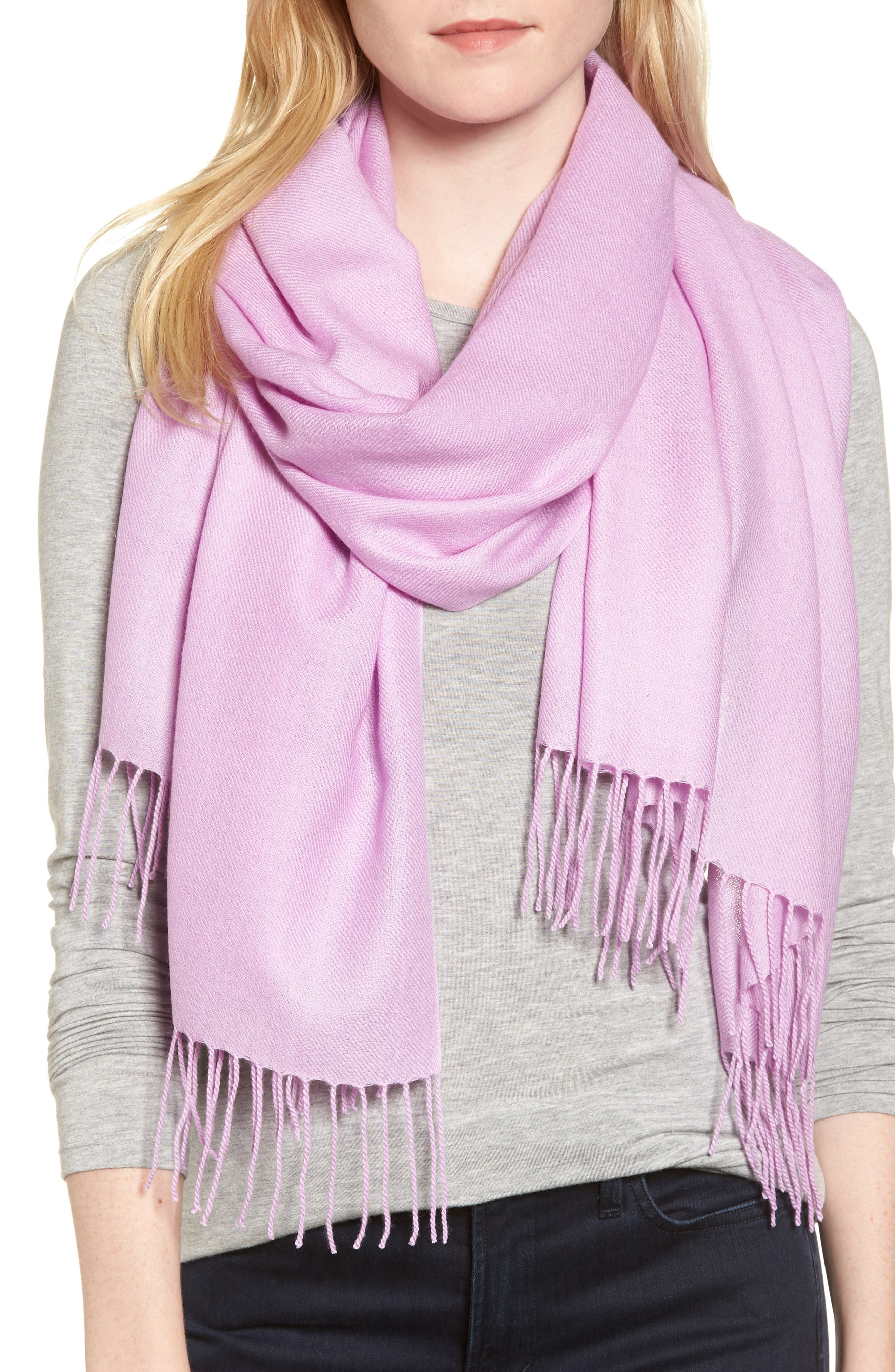 Tissue Weight Wool & Cashmere Scarf,                             Main thumbnail 8, color,