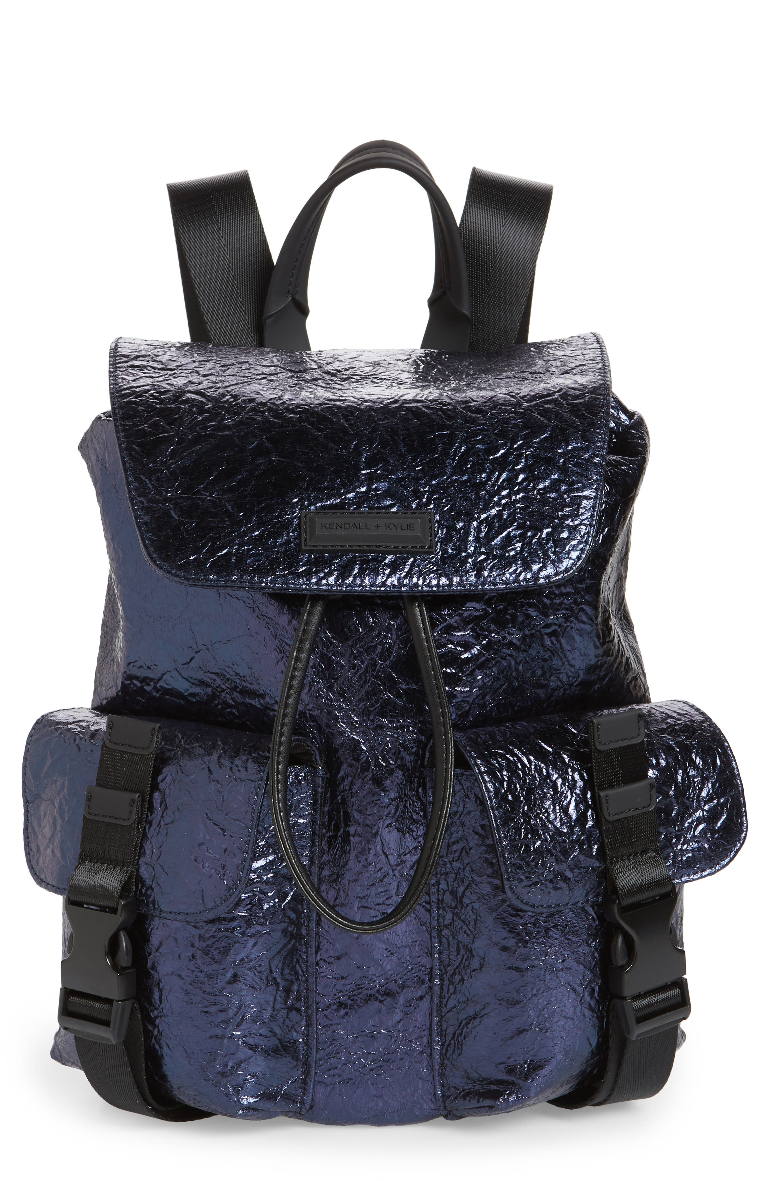 KENDALL + KYLIE,                             Parker Metallic Water Resistant Backpack,                             Main thumbnail 1, color,                             400