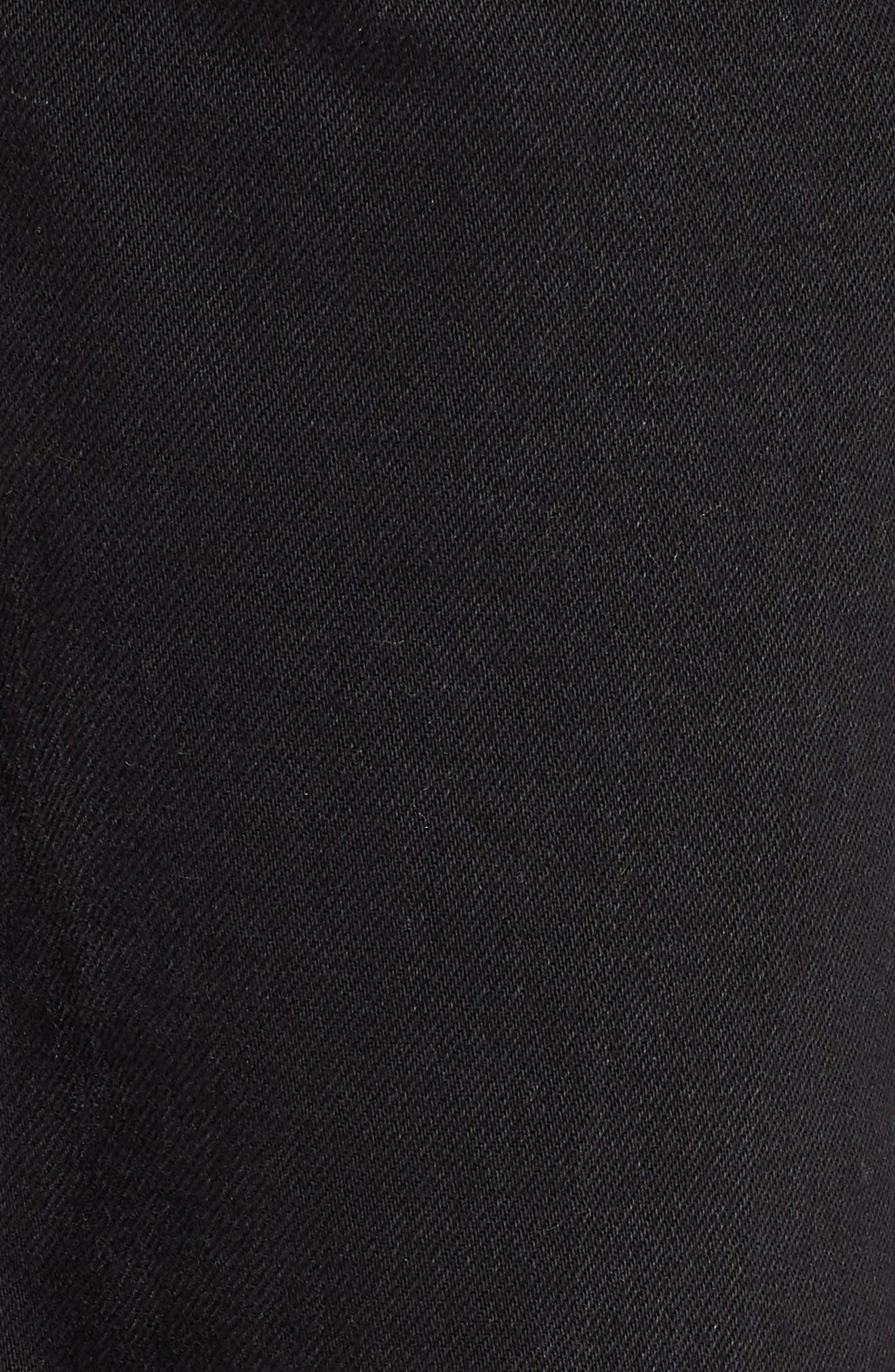 Stripe Hem Crop Jeans,                             Alternate thumbnail 6, color,                             003