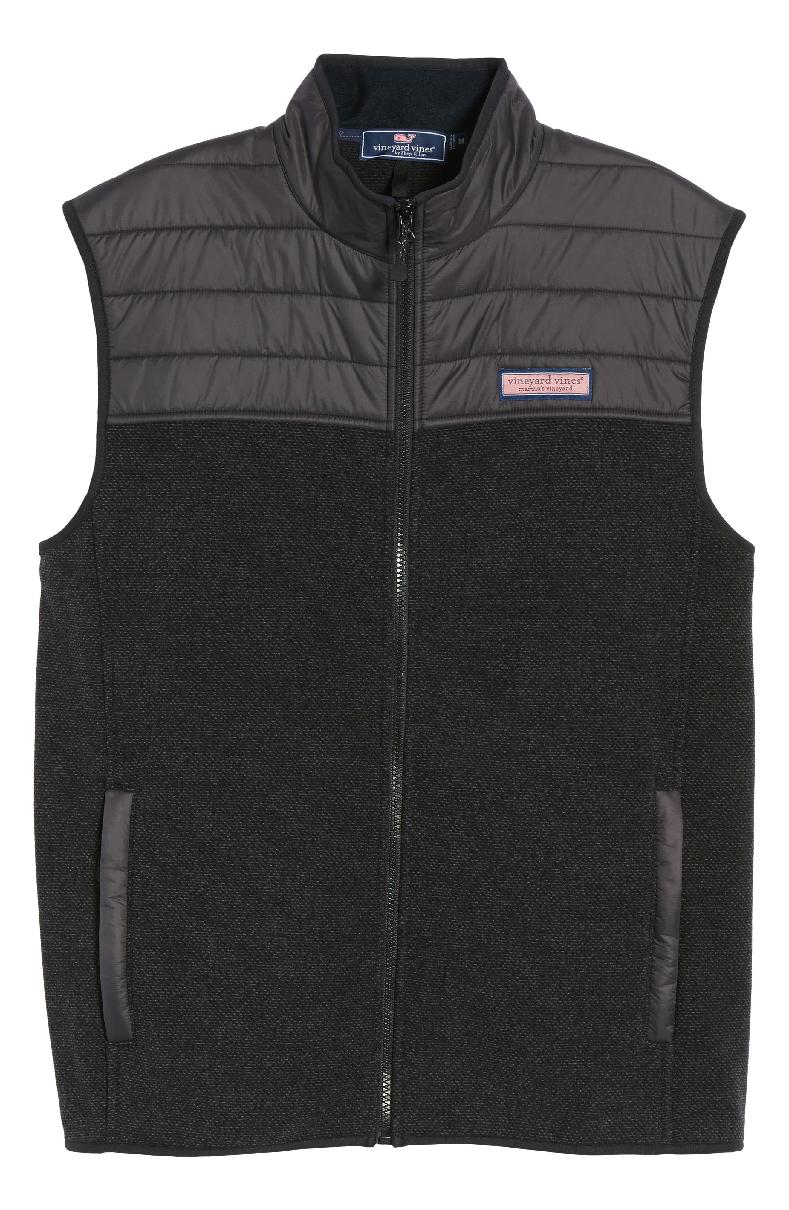 Quilted Yoke Fleece Vest,                             Alternate thumbnail 5, color,