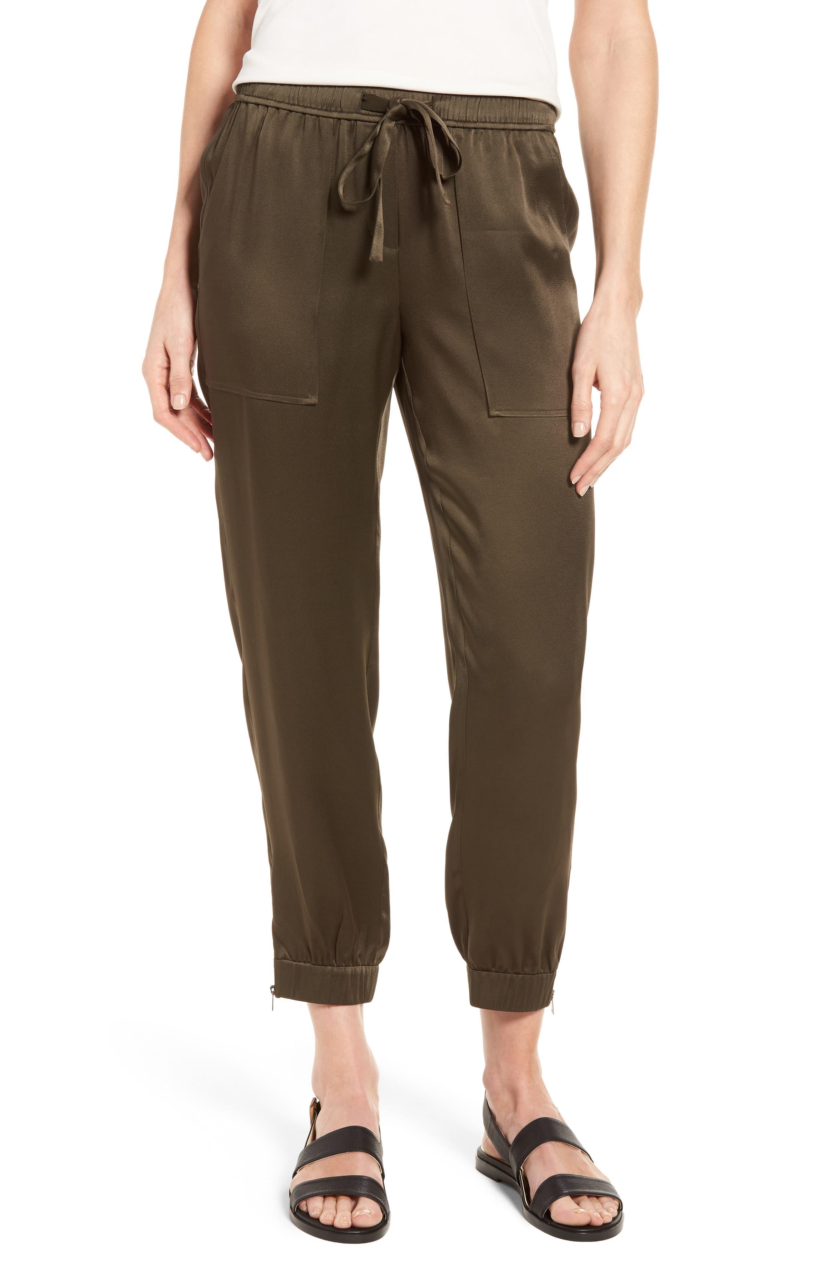 Satin Jogger Pants,                         Main,                         color, 311