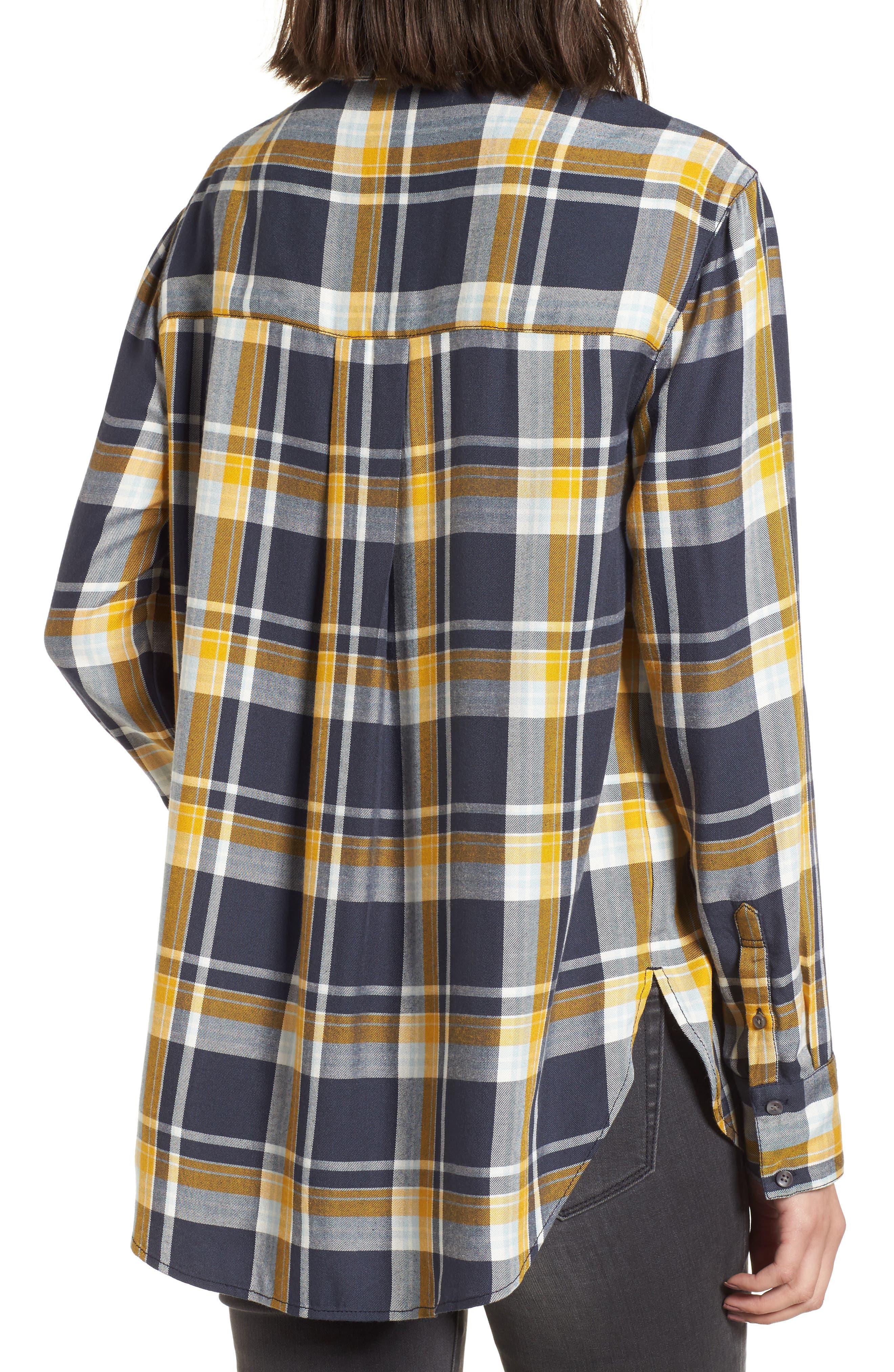 Plaid Boyfriend Shirt,                             Alternate thumbnail 7, color,