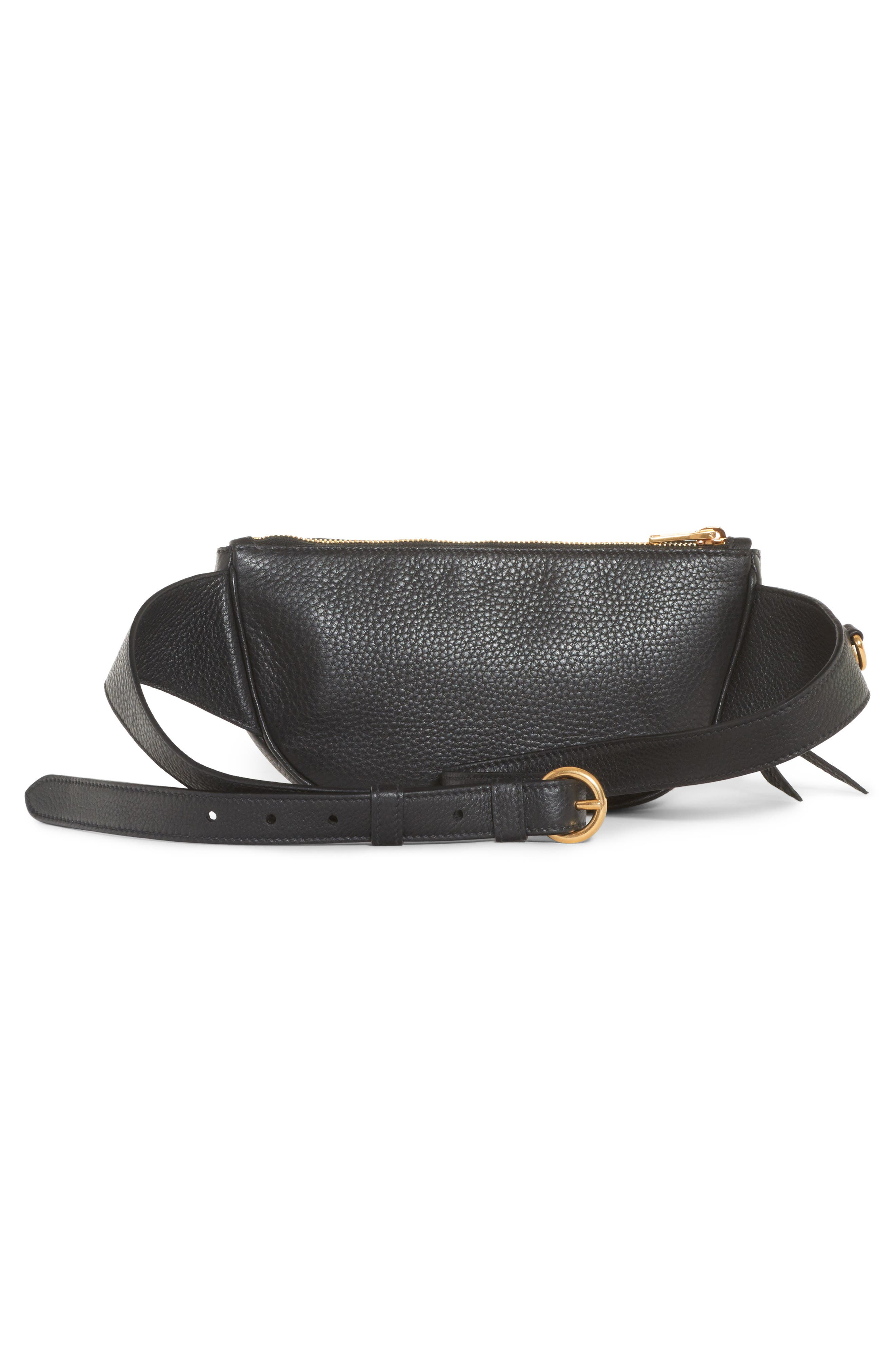 Daino Leather Belt Bag,                             Alternate thumbnail 2, color,                             001