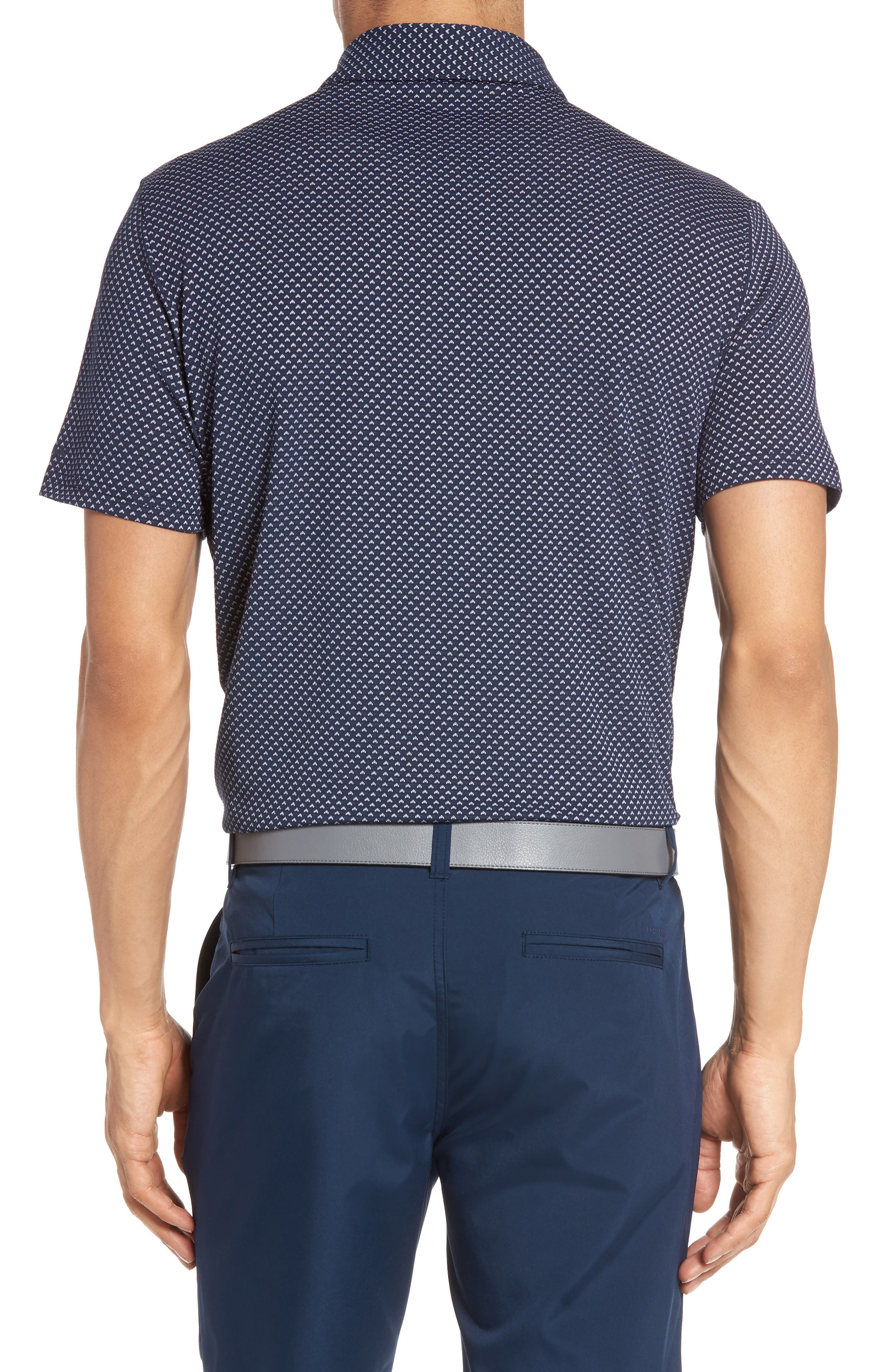 Flatiron Slim Fit Jacquard Jersey Polo,                             Alternate thumbnail 4, color,